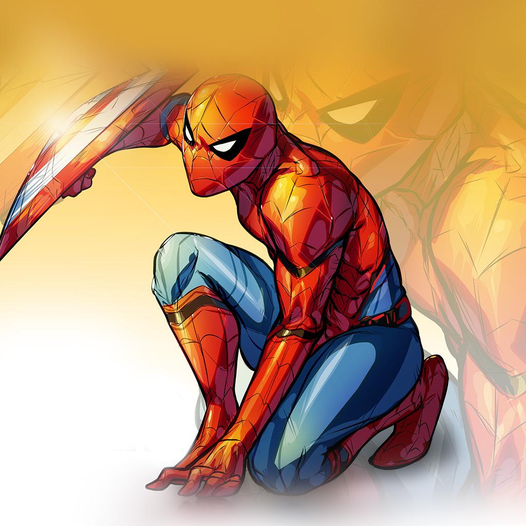 android-wallpaper-aq72-spiderman-captain-america-civilwar-art-hero-wallpaper