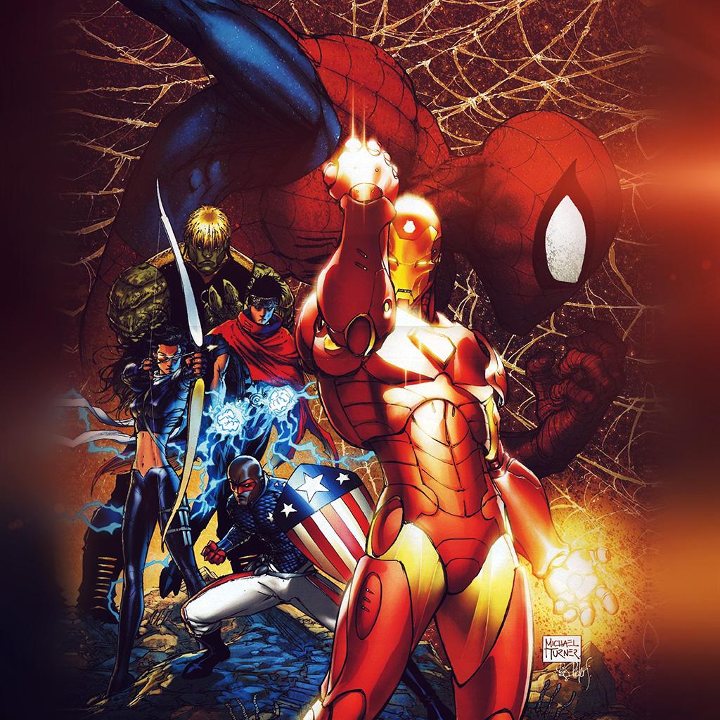 android-wallpaper-aq75-spiderman-ironman-civilwar-art-poster-illustration-flare-wallpaper