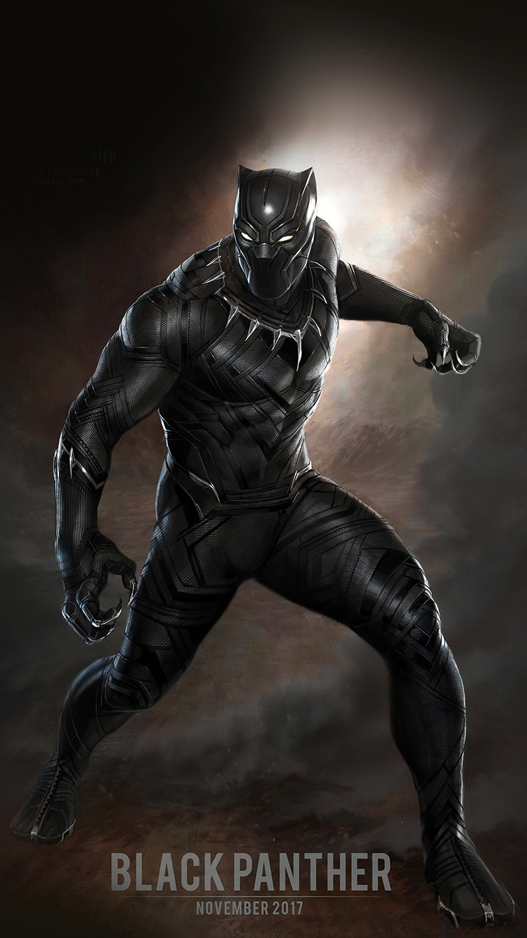 Iphonexpapers Com Iphone X Wallpaper Aq76 Black Panther Art Hero Captain America