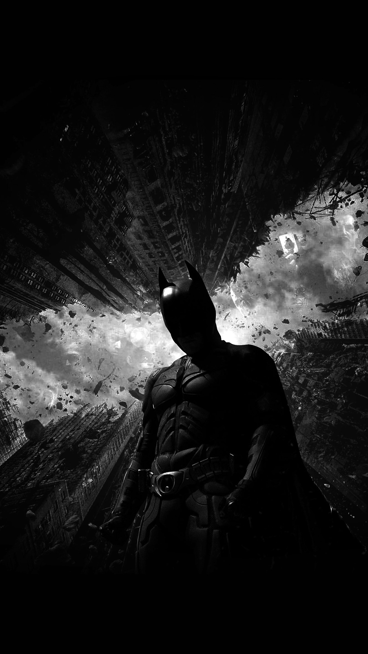 Aq90 Batman Dark Bw Hero Art Wallpaper