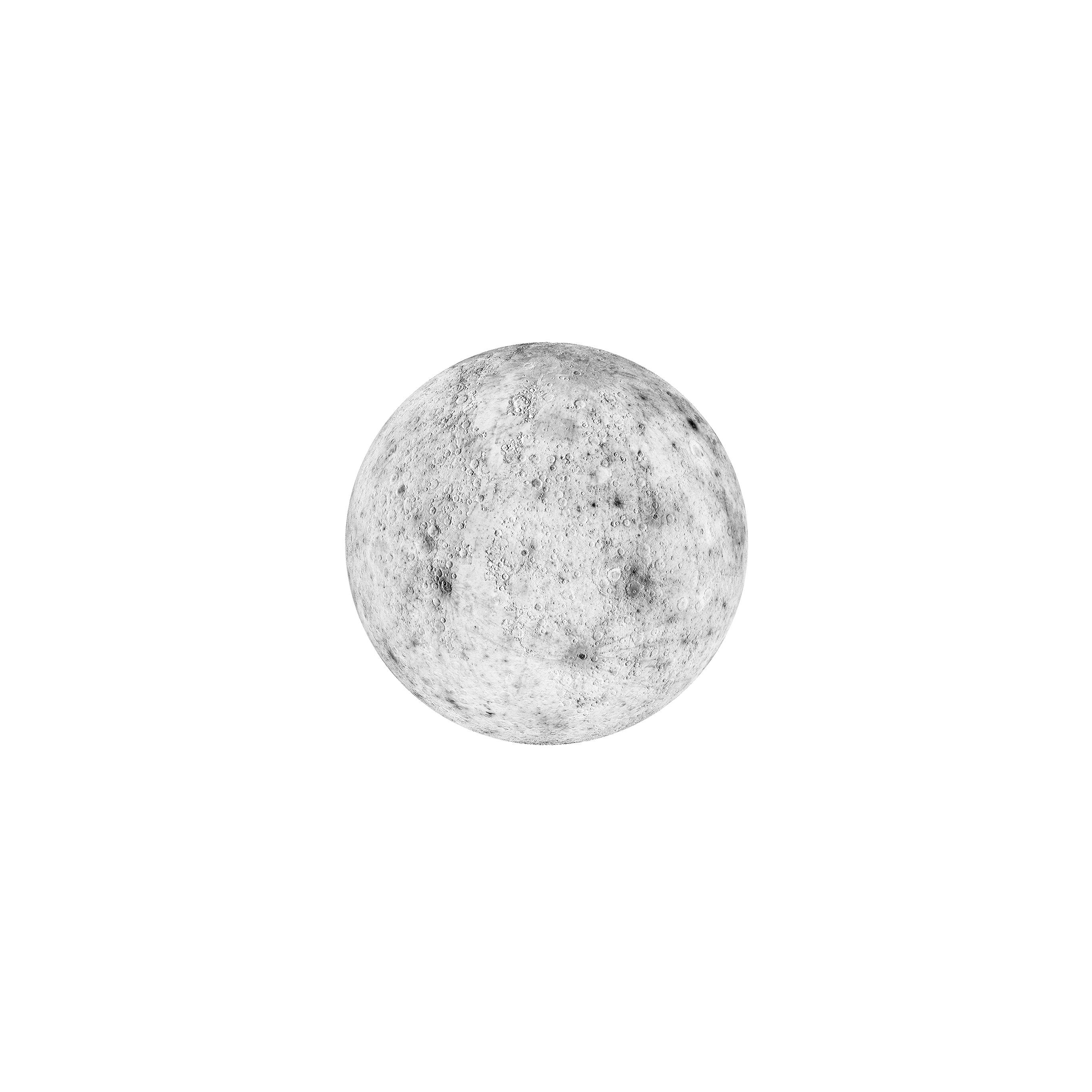 Ar09 Moon White Minimal Art Space Planet Wallpaper