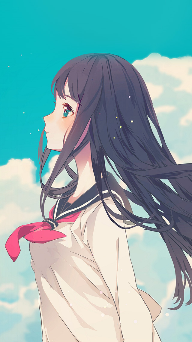 I Love Papers Ar10 Cute Girl Illustration Anime Sky