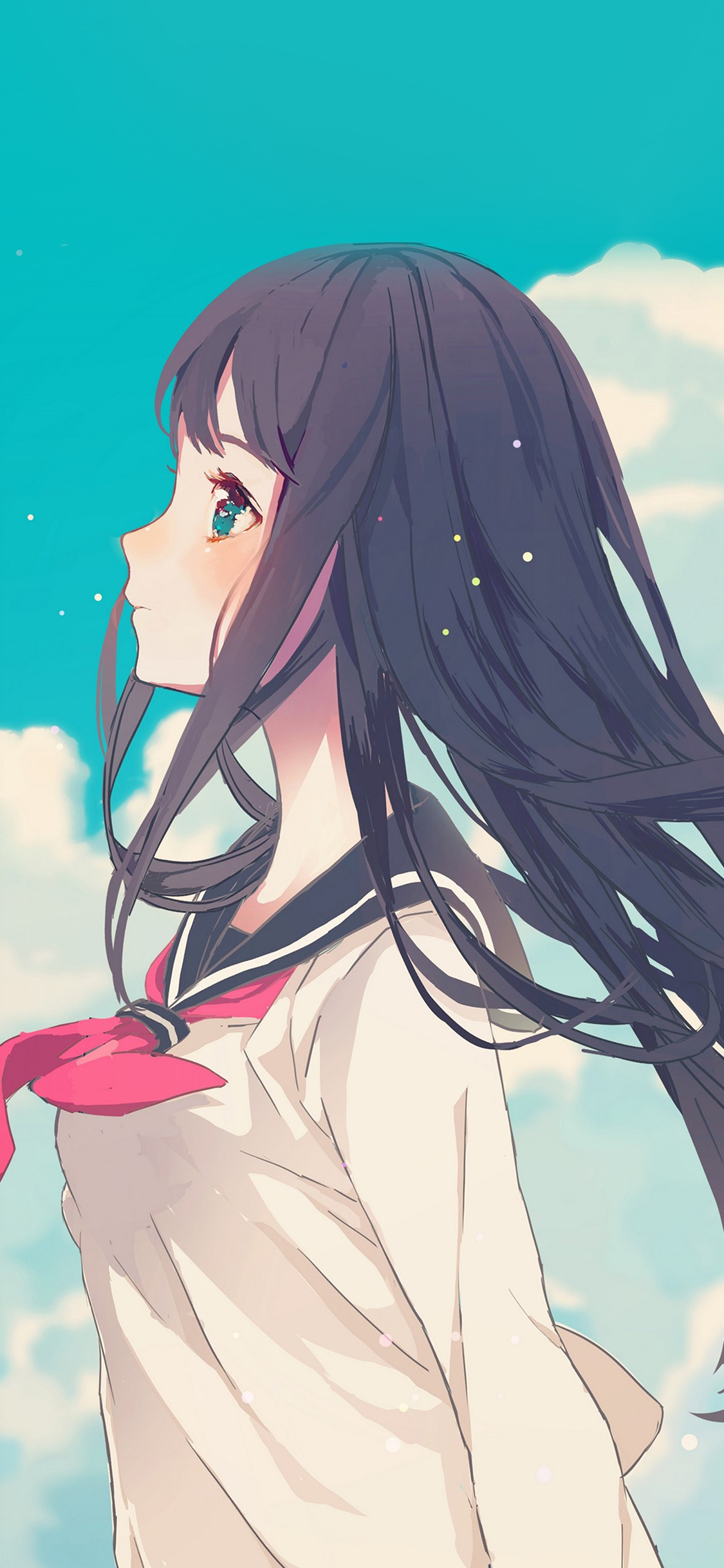 iPhoneXpapers.com-Apple-iPhone-wallpaper-ar10-cute-girl-illustration-anime-sky