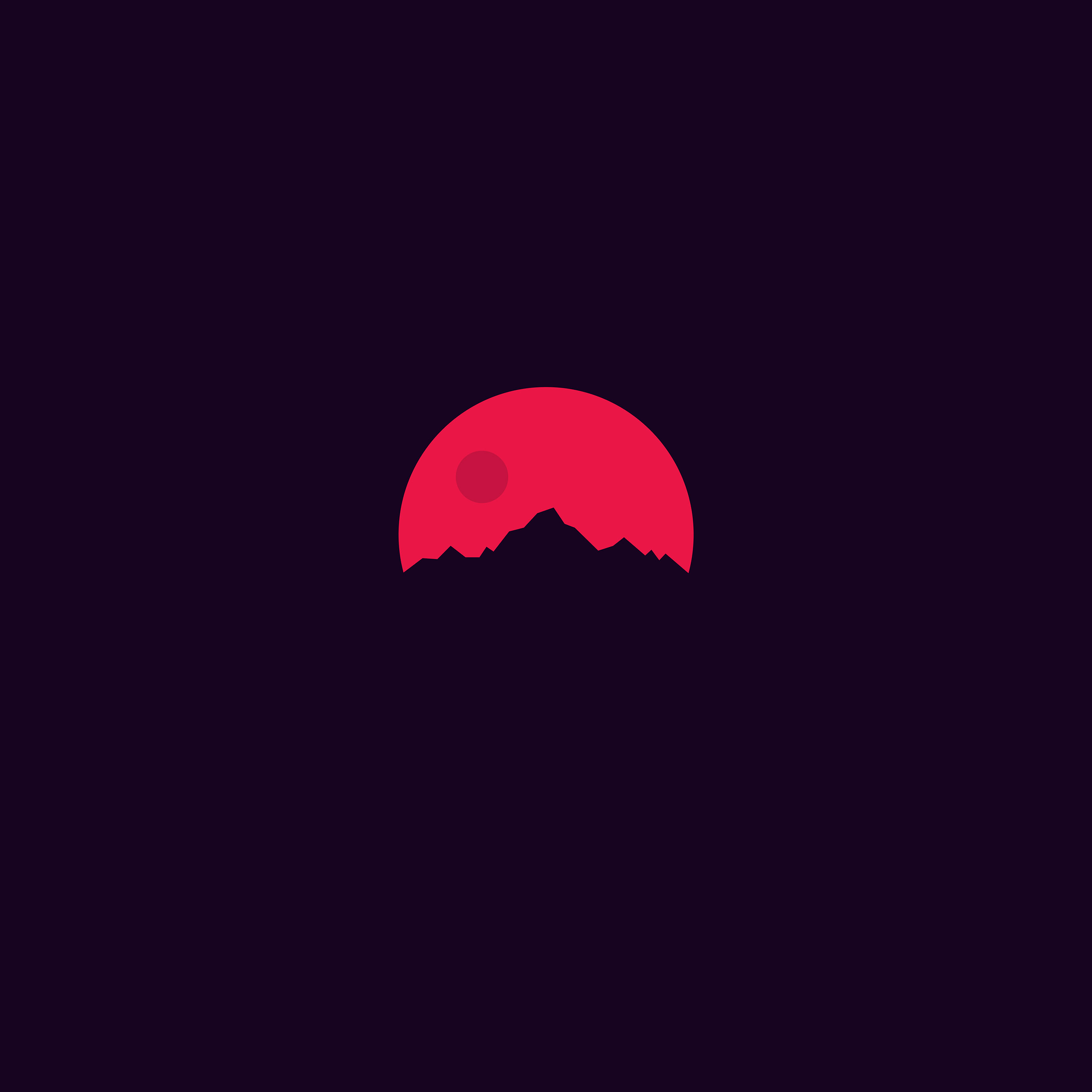 Ar12 Minimal Sunset Art Illustration Wallpaper