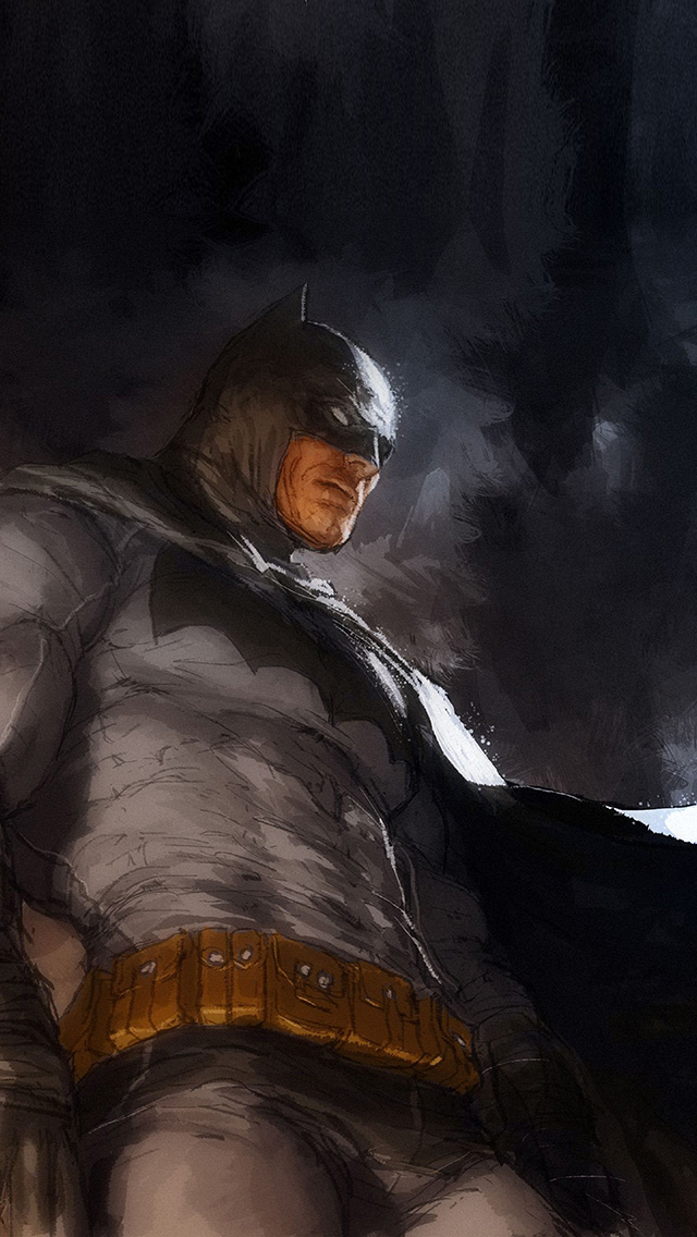 freeios8.com-iphone-4-5-6-plus-ipad-ios8-ar14-batman-art-illustration-darknight-paint