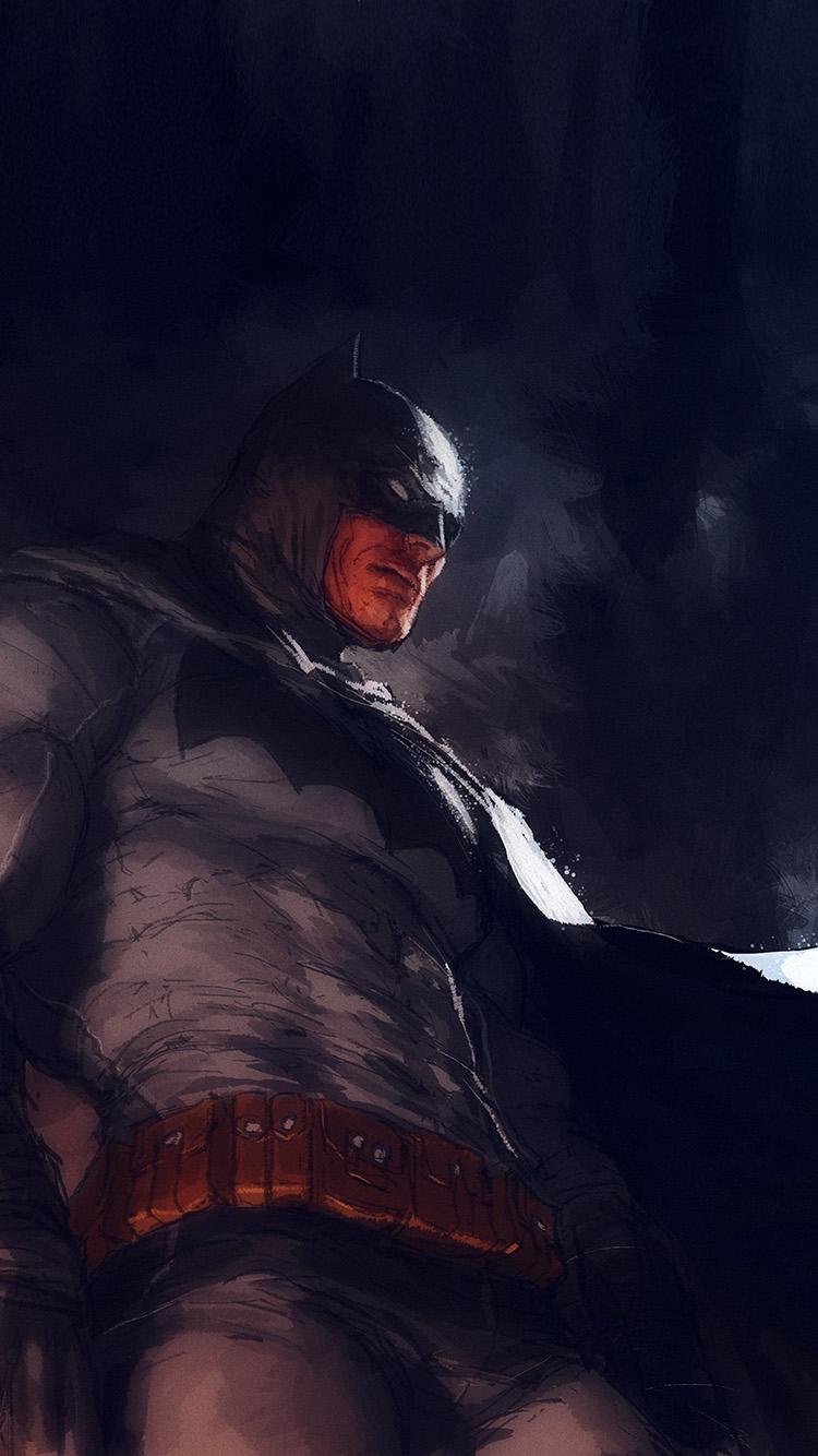 Papers.co-iPhone5-iphone6-plus-wallpaper-ar15-batman-art-illustration-darknight-paint-blue