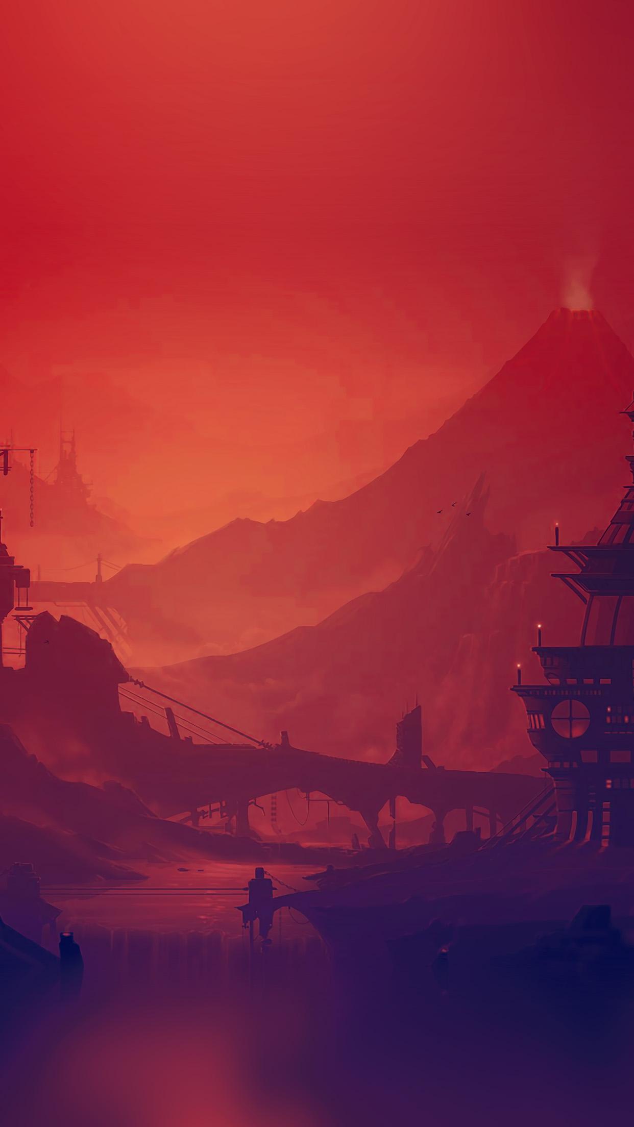 ar20-red-purple-river-illustration-art-anime-wallpaper