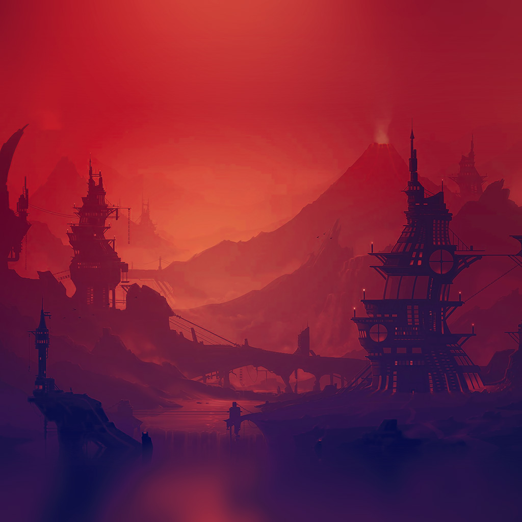 wallpaper-ar20-red-purple-river-illustration-art-anime-wallpaper