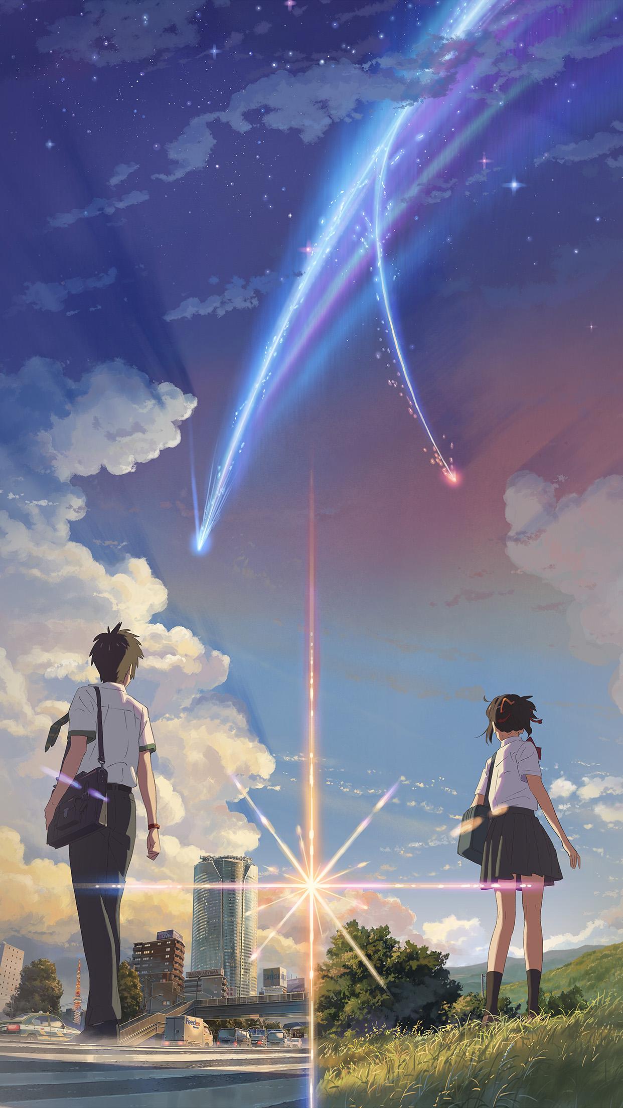 Ar28 Boy And Girl Anime Art Spring Cute Wallpaper