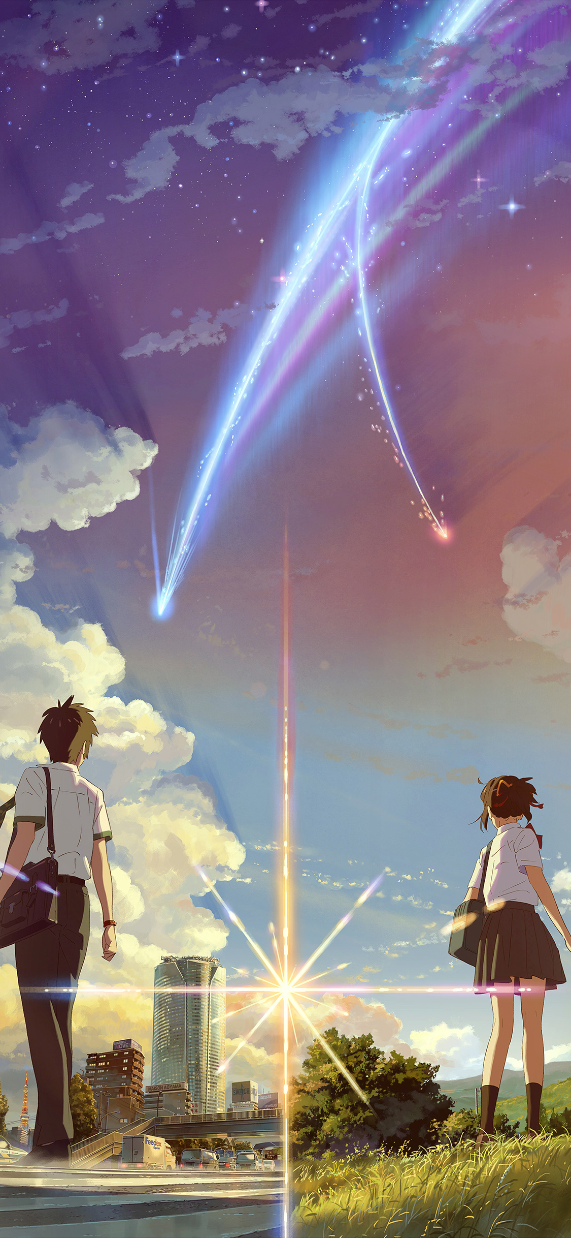 Ar29 Boy And Girl Anime Art Spring Cute Flare Wallpaper