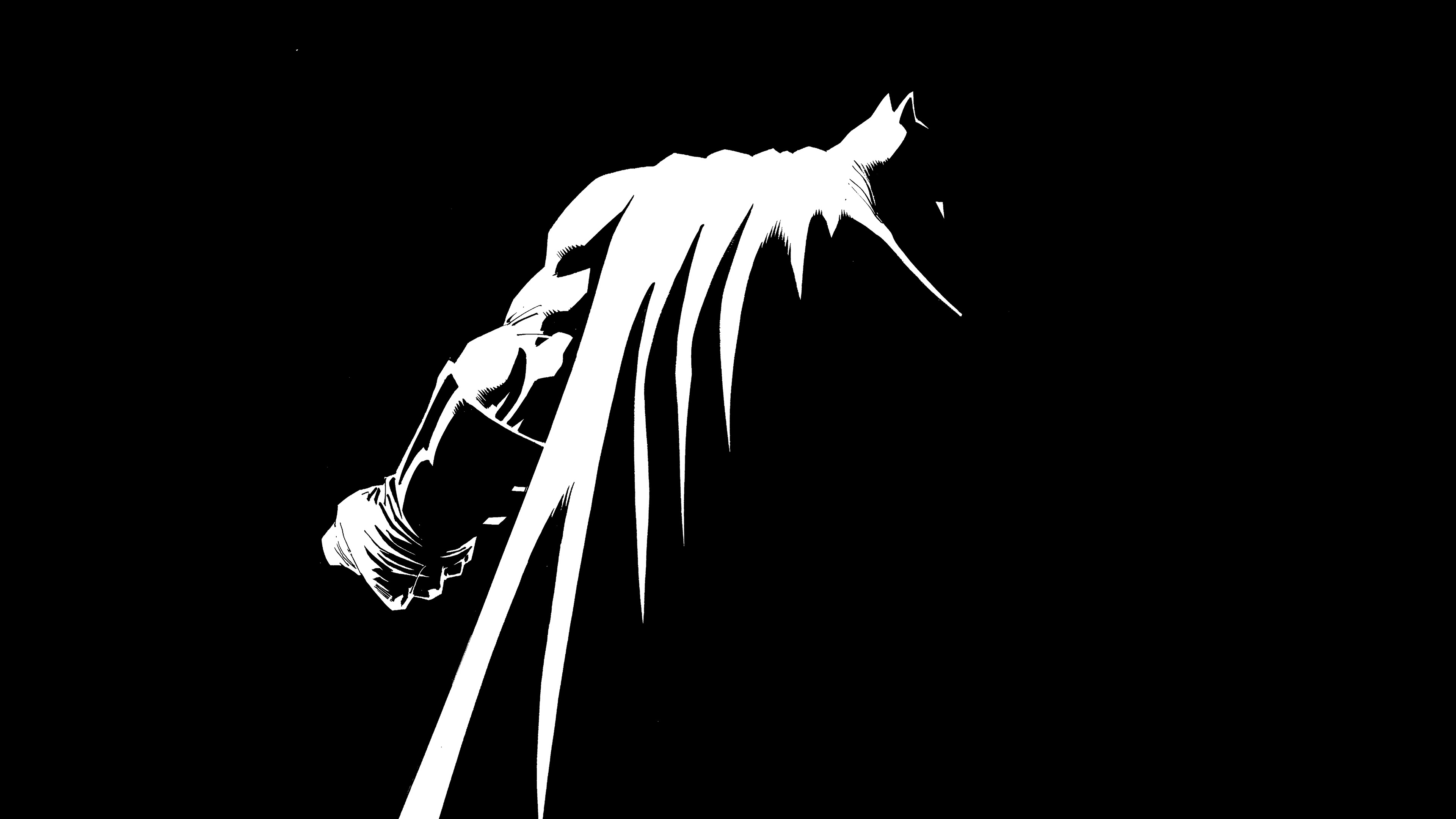 Ar30 Batman Simple Dark Art Minimal Wallpaper