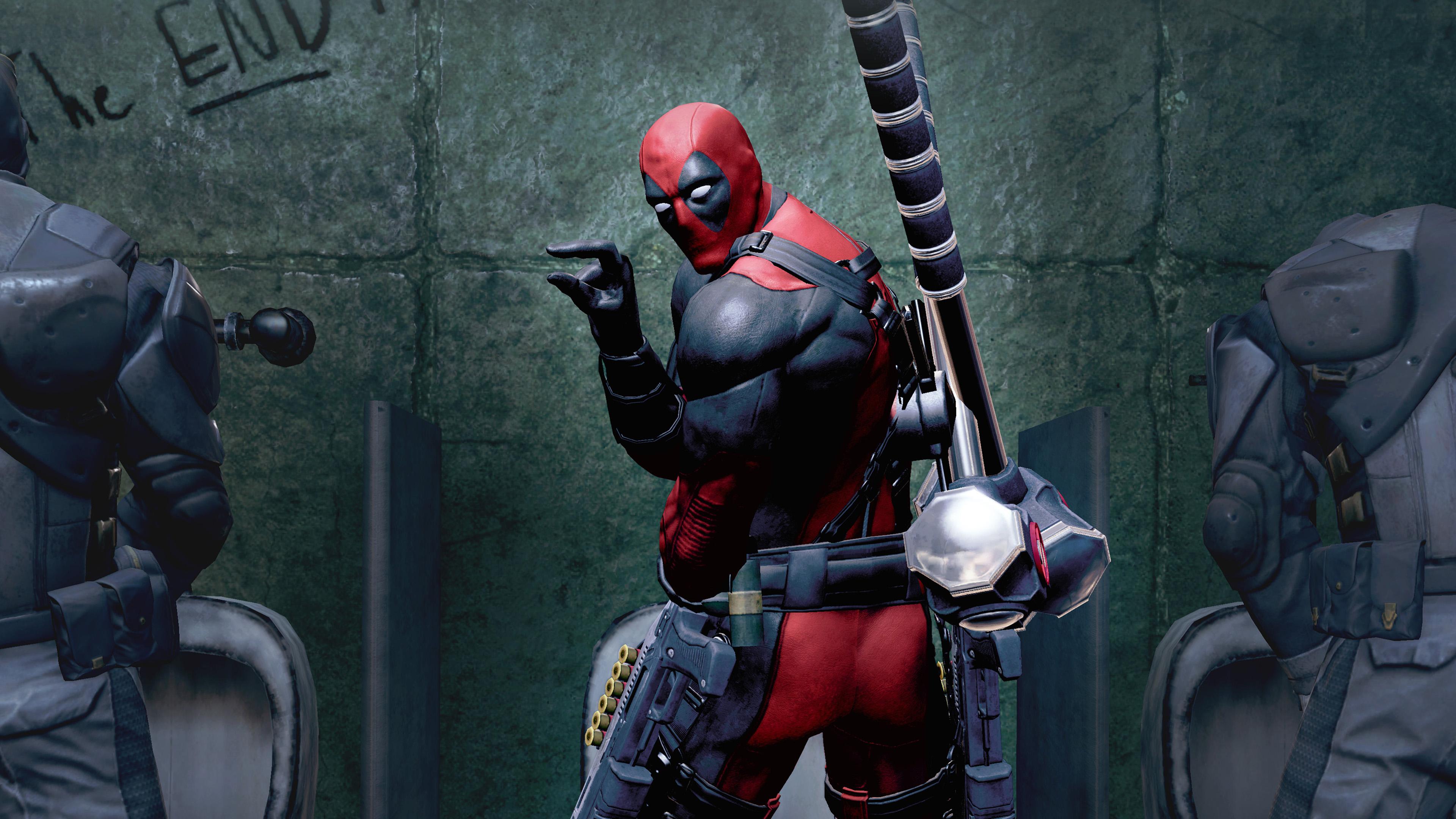 Ar32 Deadpool Superhero Art Pee Marvel Wallpaper