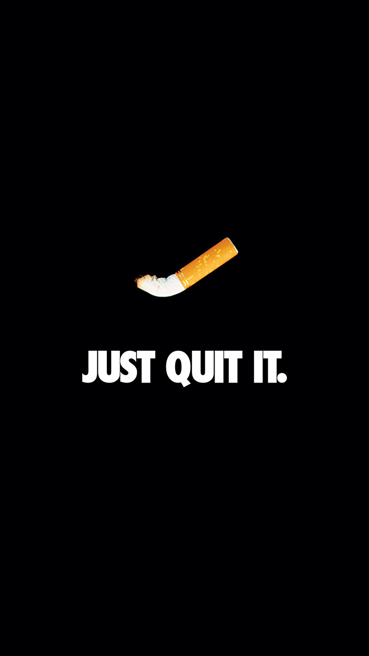 iPhonepapers.com-Apple-iPhone8-wallpaper-ar33-just-quit-it-nike-smoking-art-minimal-dark