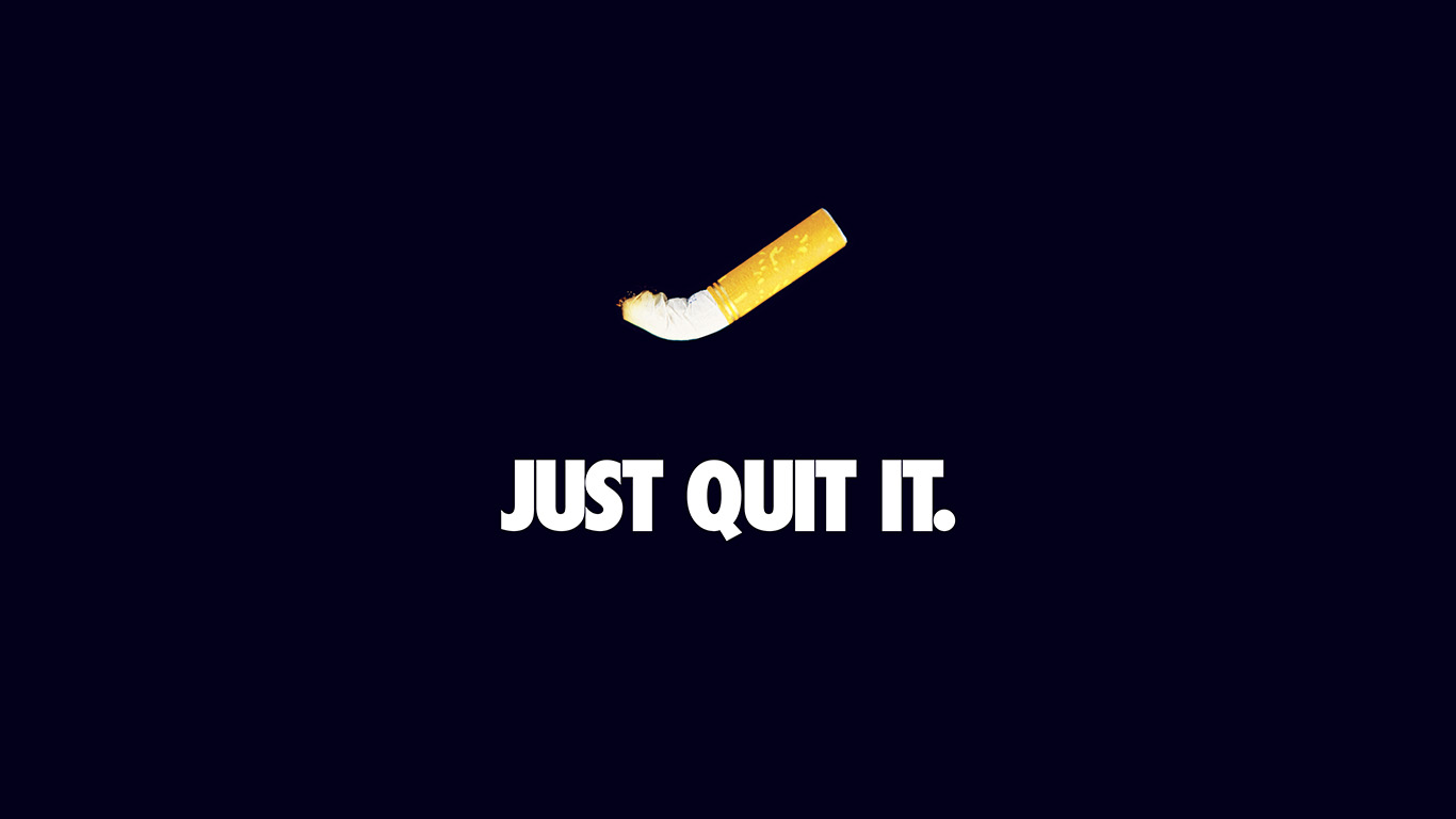 desktop-wallpaper-laptop-mac-macbook-air-ar34-just-quit-it-nike-smoking-art-minimal-dark-blue-wallpaper