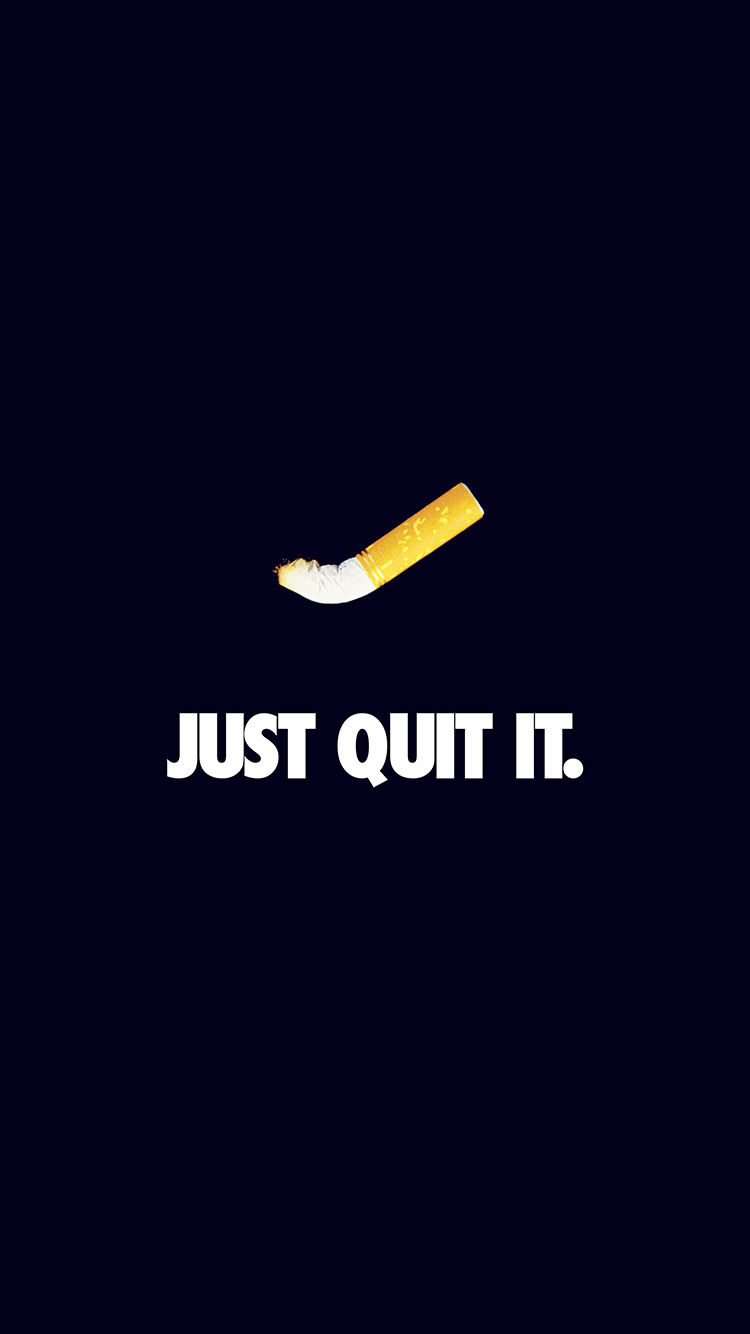 iPhone7papers.com-Apple-iPhone7-iphone7plus-wallpaper-ar34-just-quit-it-nike-smoking-art-minimal-dark-blue