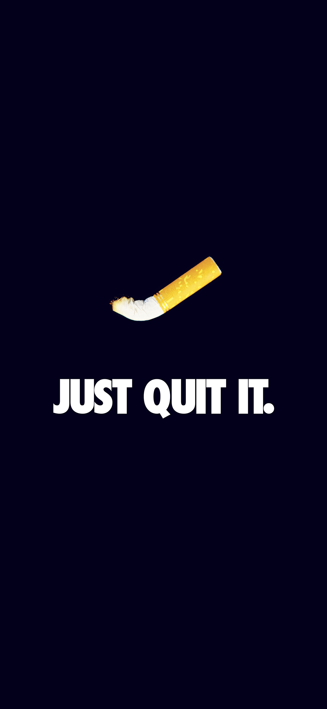 iPhoneXpapers.com-Apple-iPhone-wallpaper-ar34-just-quit-it-nike-smoking-art-minimal-dark-blue