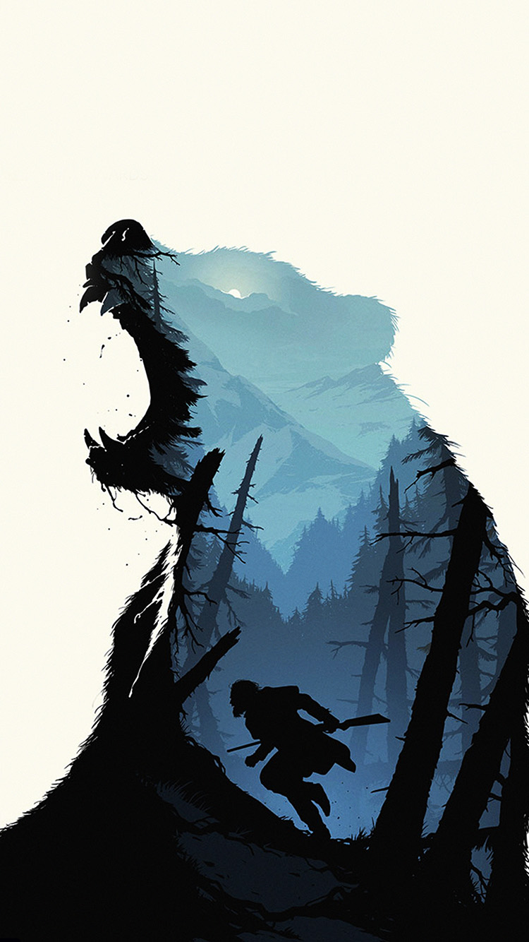 iPhonepapers.com-Apple-iPhone8-wallpaper-ar35-revenant-dicaprio-poster-film-art-bear