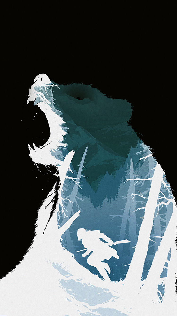iPhonepapers.com-Apple-iPhone8-wallpaper-ar36-revenant-dicaprio-poster-film-art-bear-dark
