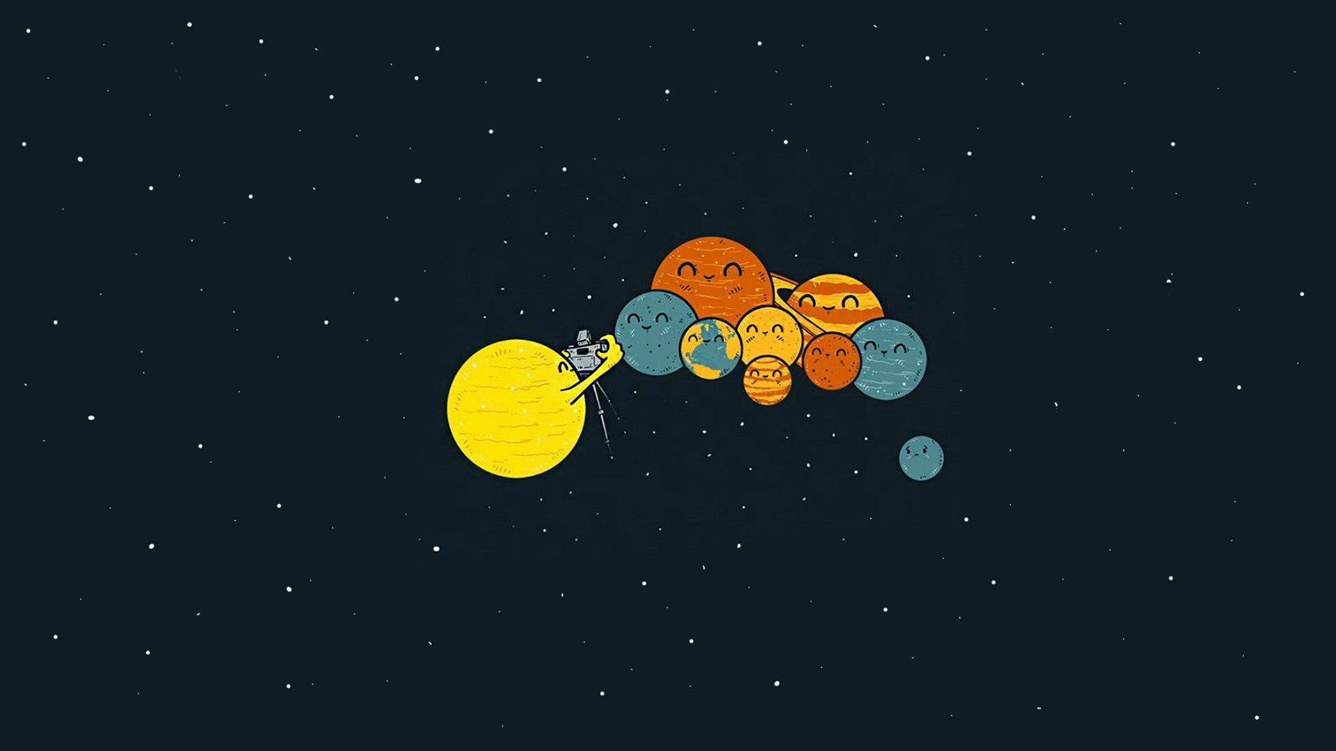 Wallpaper For Desktop Laptop Ar48 Planets Cute