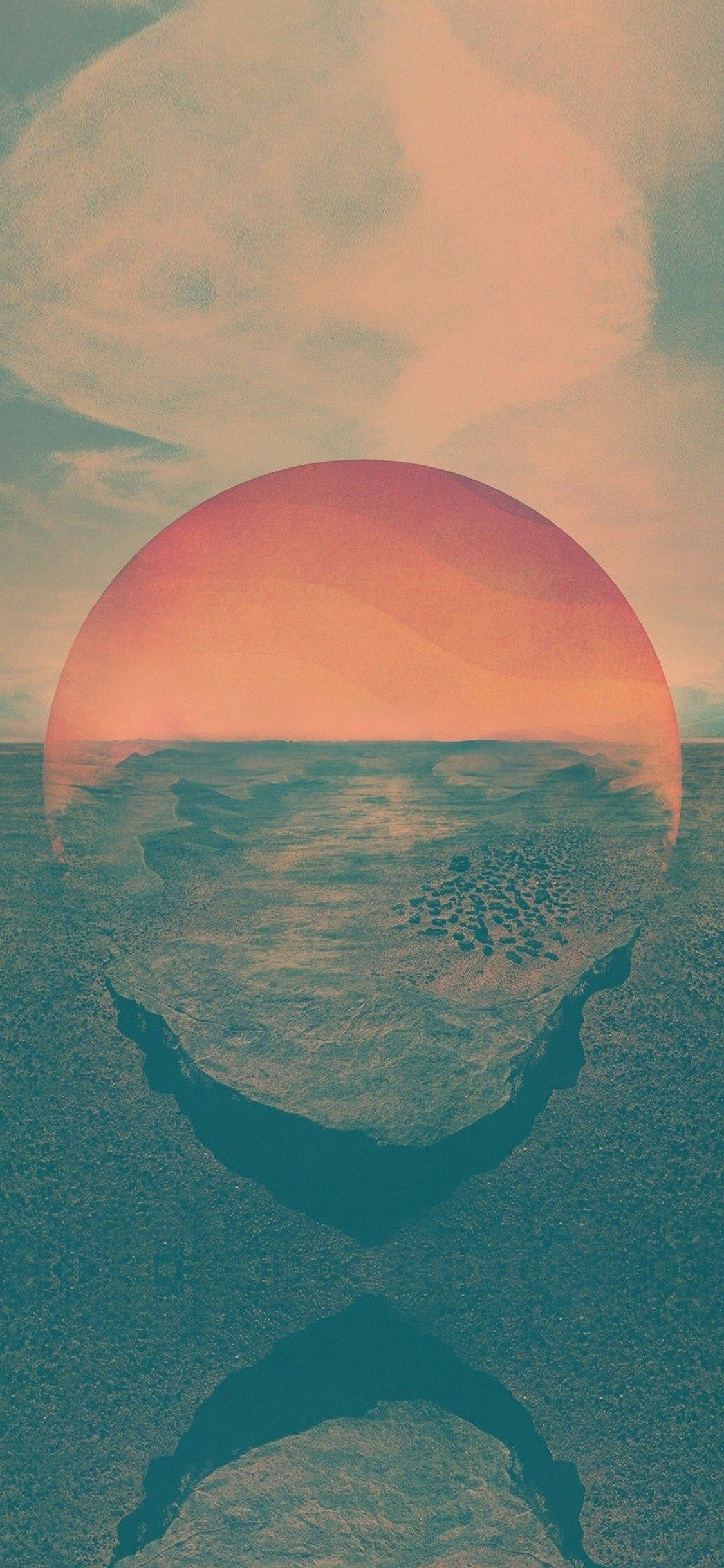 iPhoneXpapers.com-Apple-iPhone-wallpaper-ar56-tycho-art-sunset-green-red-art