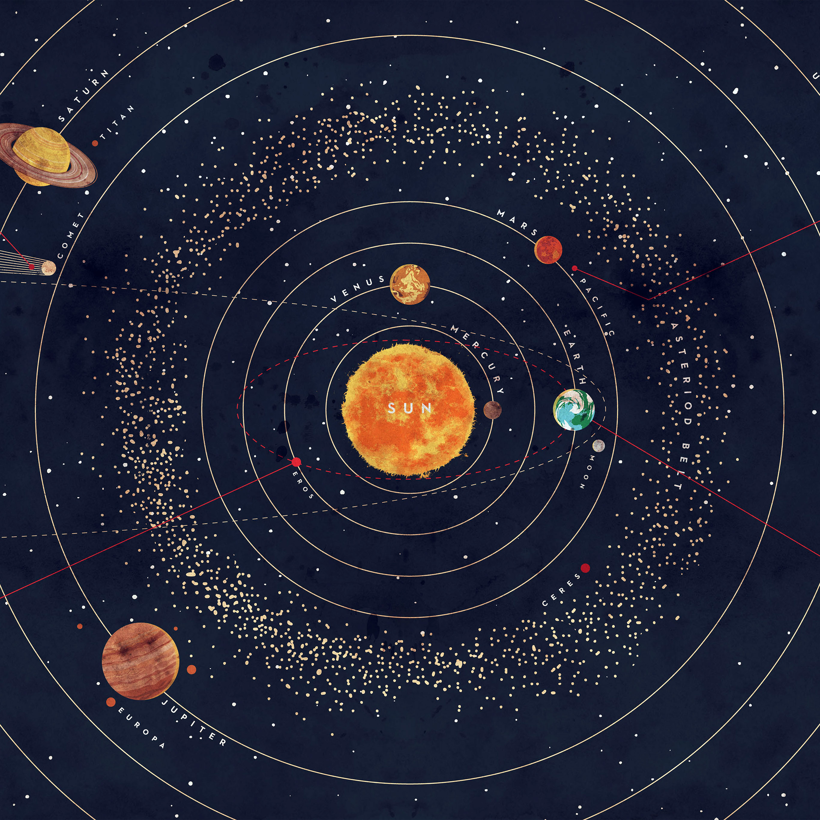 ar63 solar system space art cover red blue wallpaper