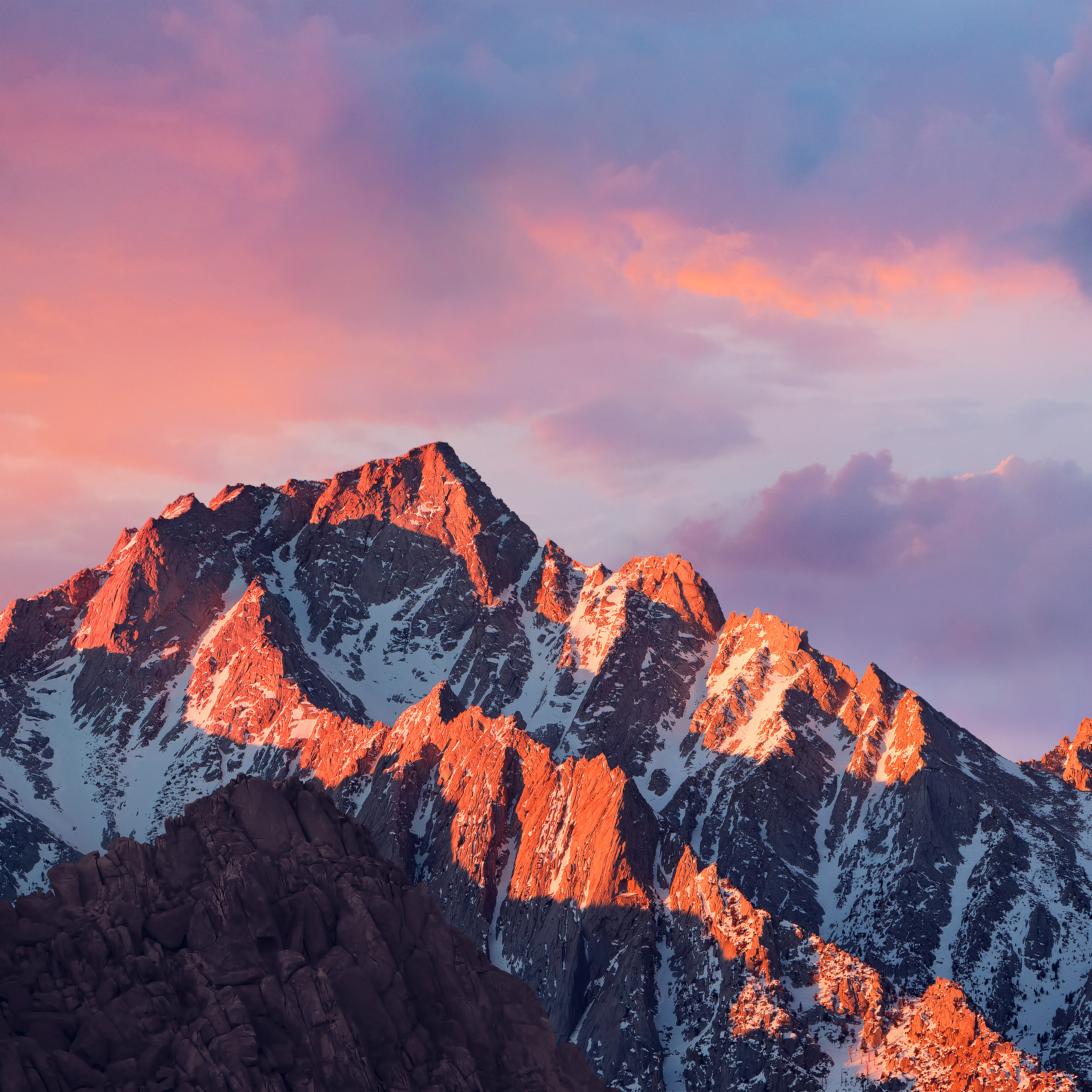 Ar67 4k Sierra Apple Wallpaper Art Mountain Sunset Wallpaper