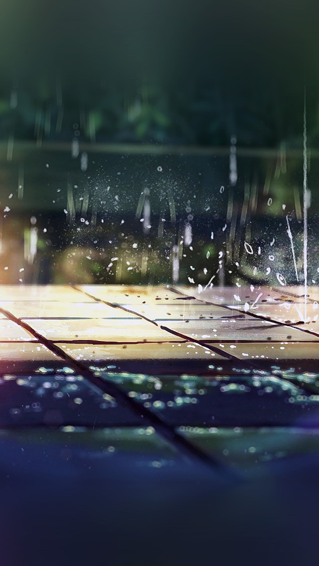 freeios8.com-iphone-4-5-6-plus-ipad-ios8-ar79-rainning-illustration-anime-art-nature-flare