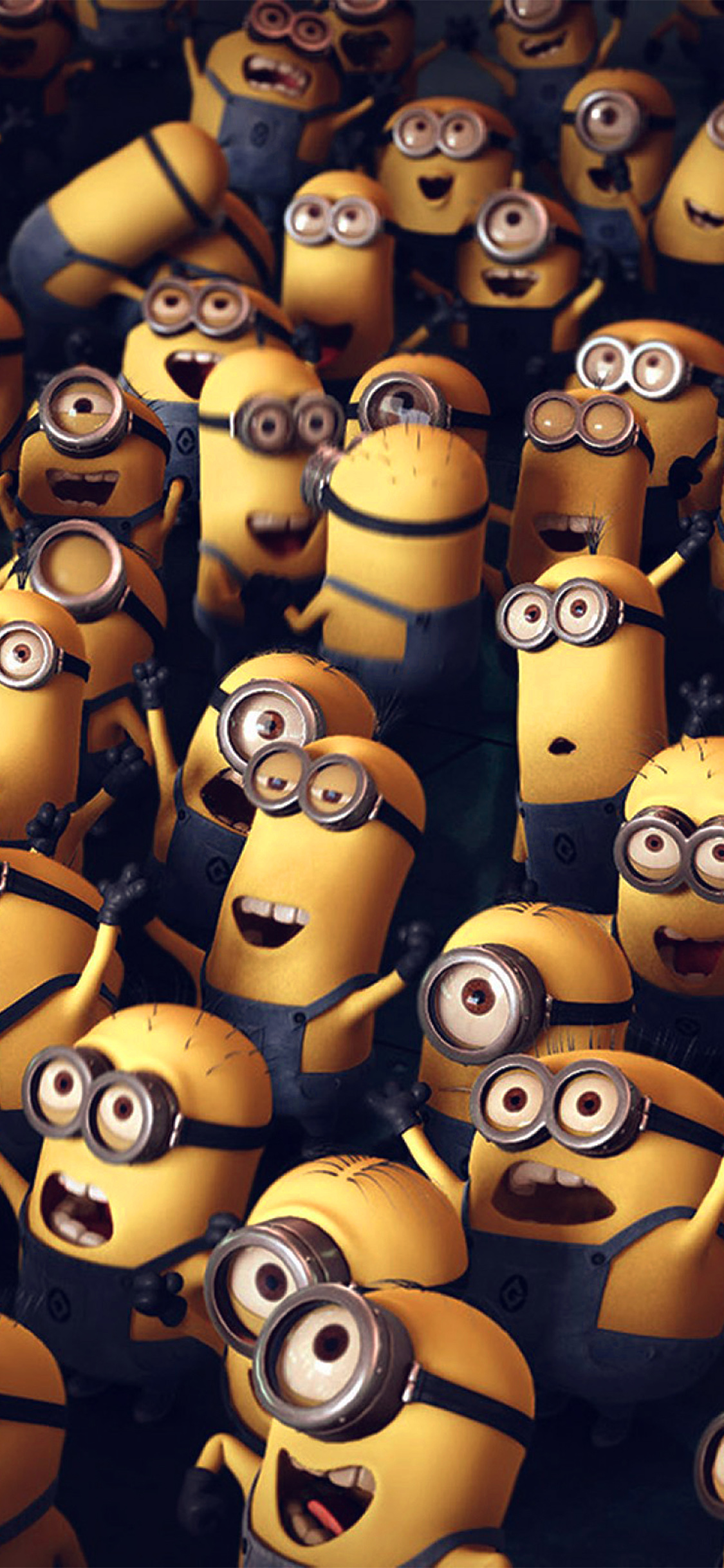 Ar84 Minions Despicable Me Cute Yellow Art Illustration