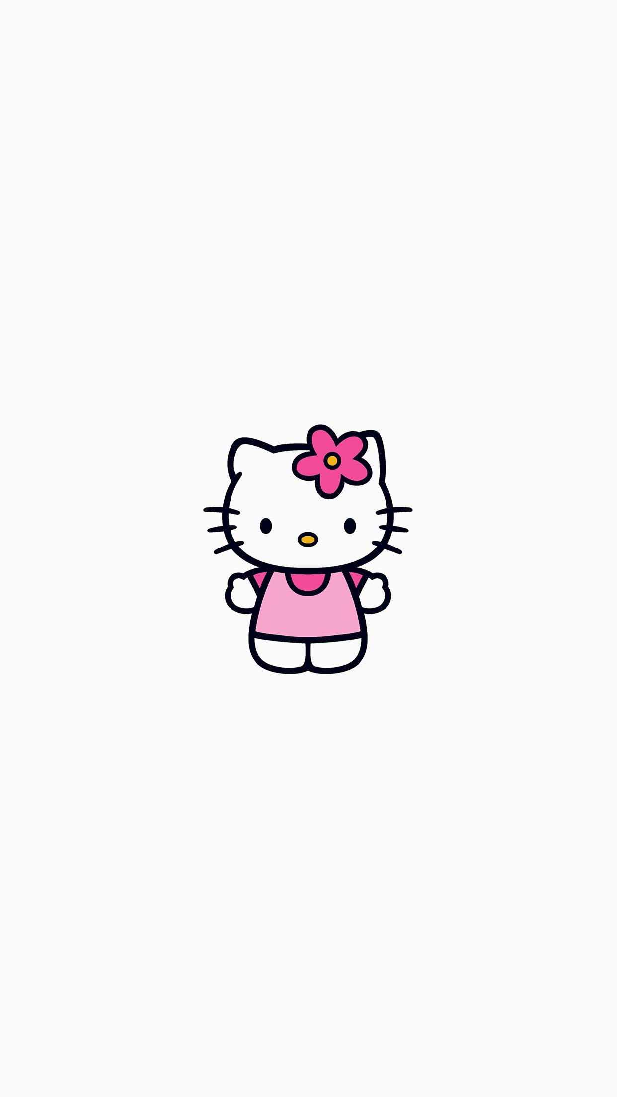 Iphonepapers Com Iphone 8 Wallpaper Ar87 Hello Kitty Logo Cute