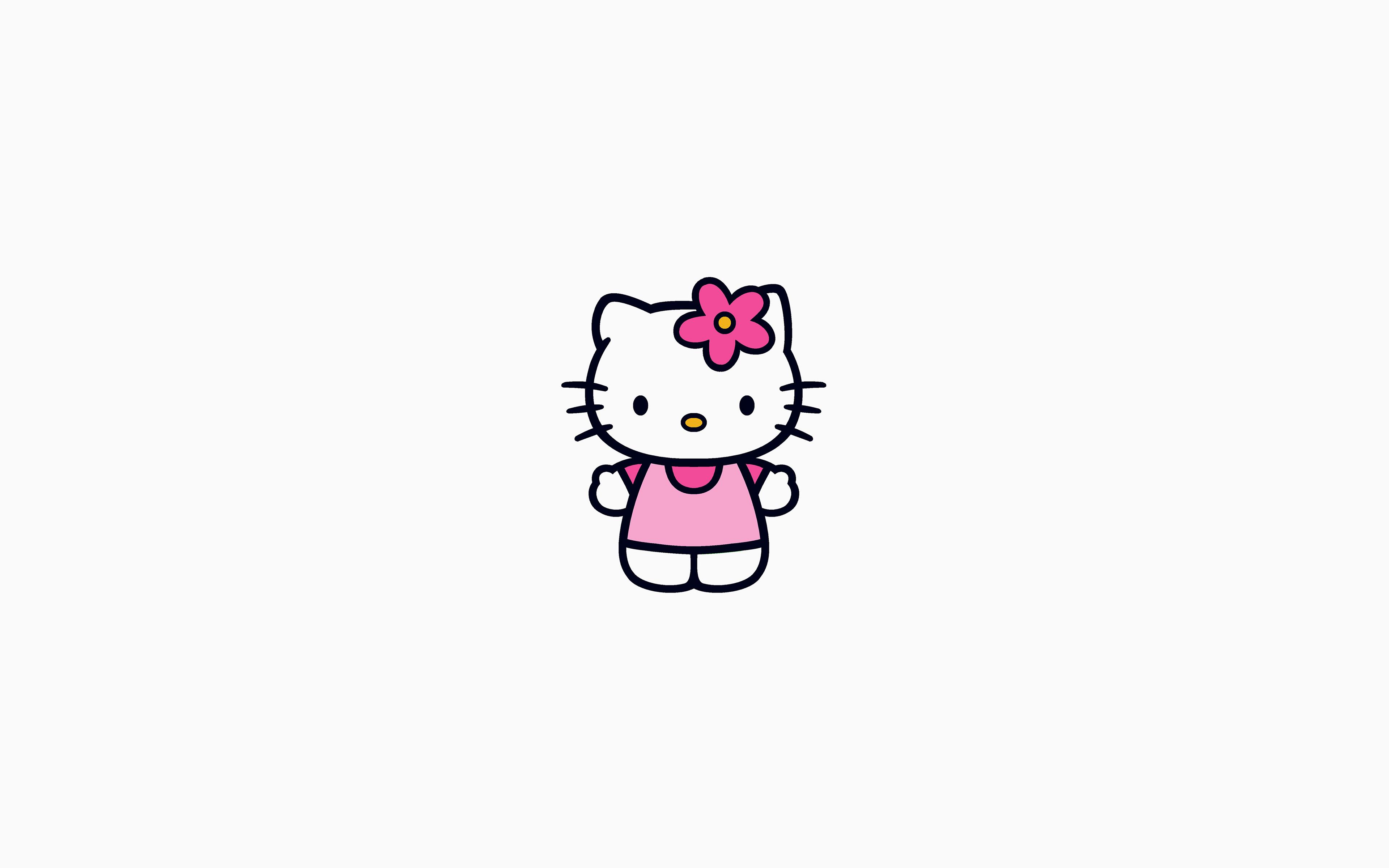 Papers Co Desktop Wallpaper Ar87 Hello Kitty Logo Cute