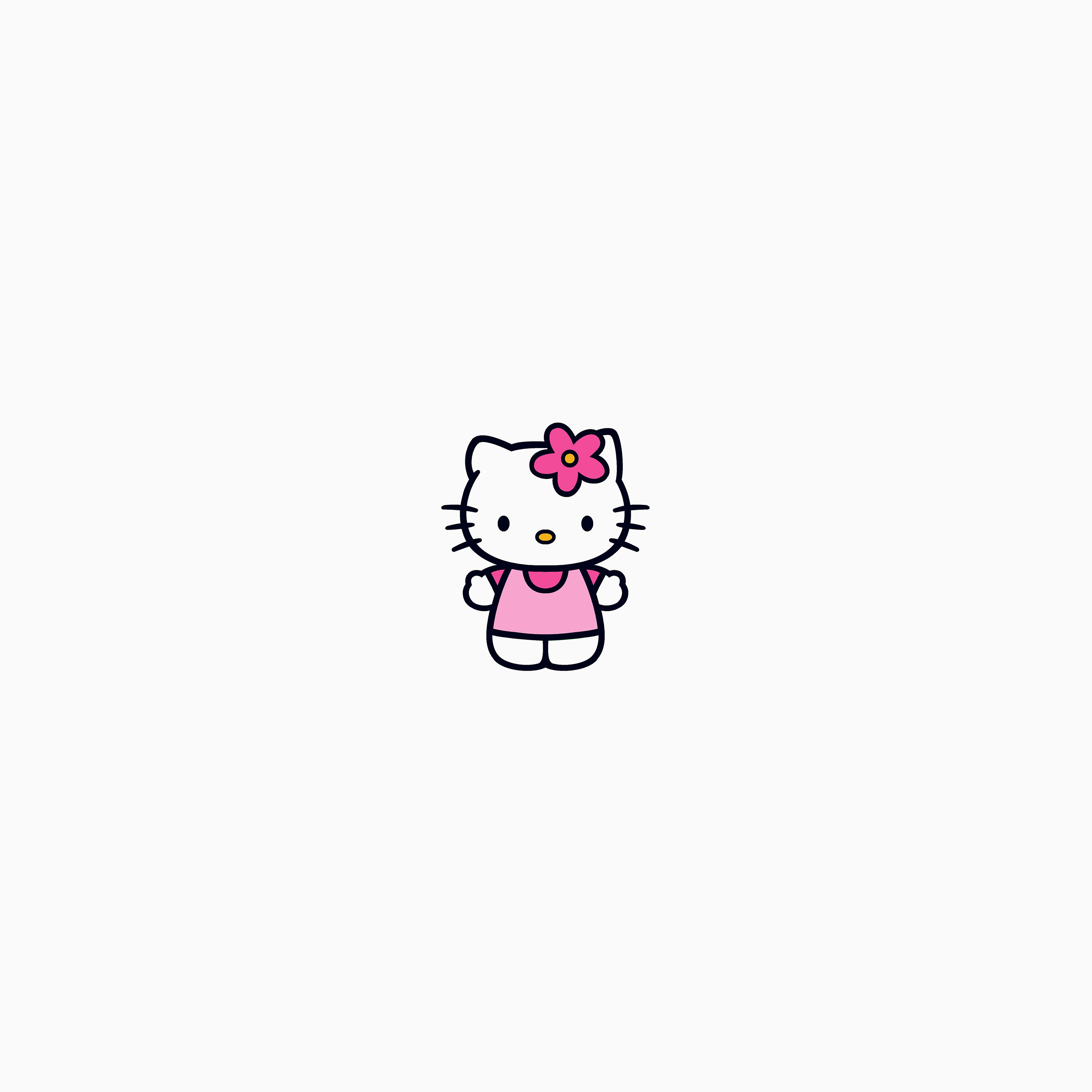Ar87 Hello Kitty Logo Cute Art Illustration Wallpaper