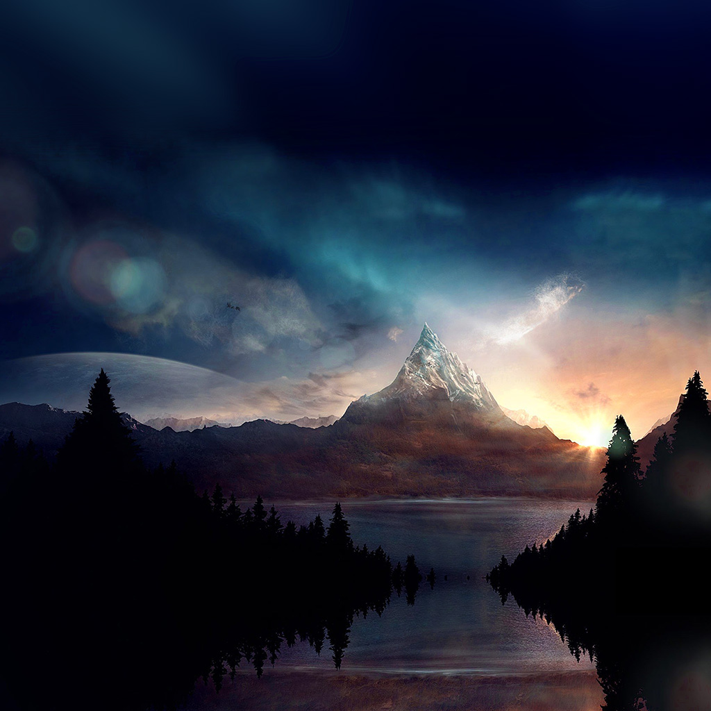 android-wallpaper-ar91-mountain-nature-fantasy-art-illustration-wallpaper