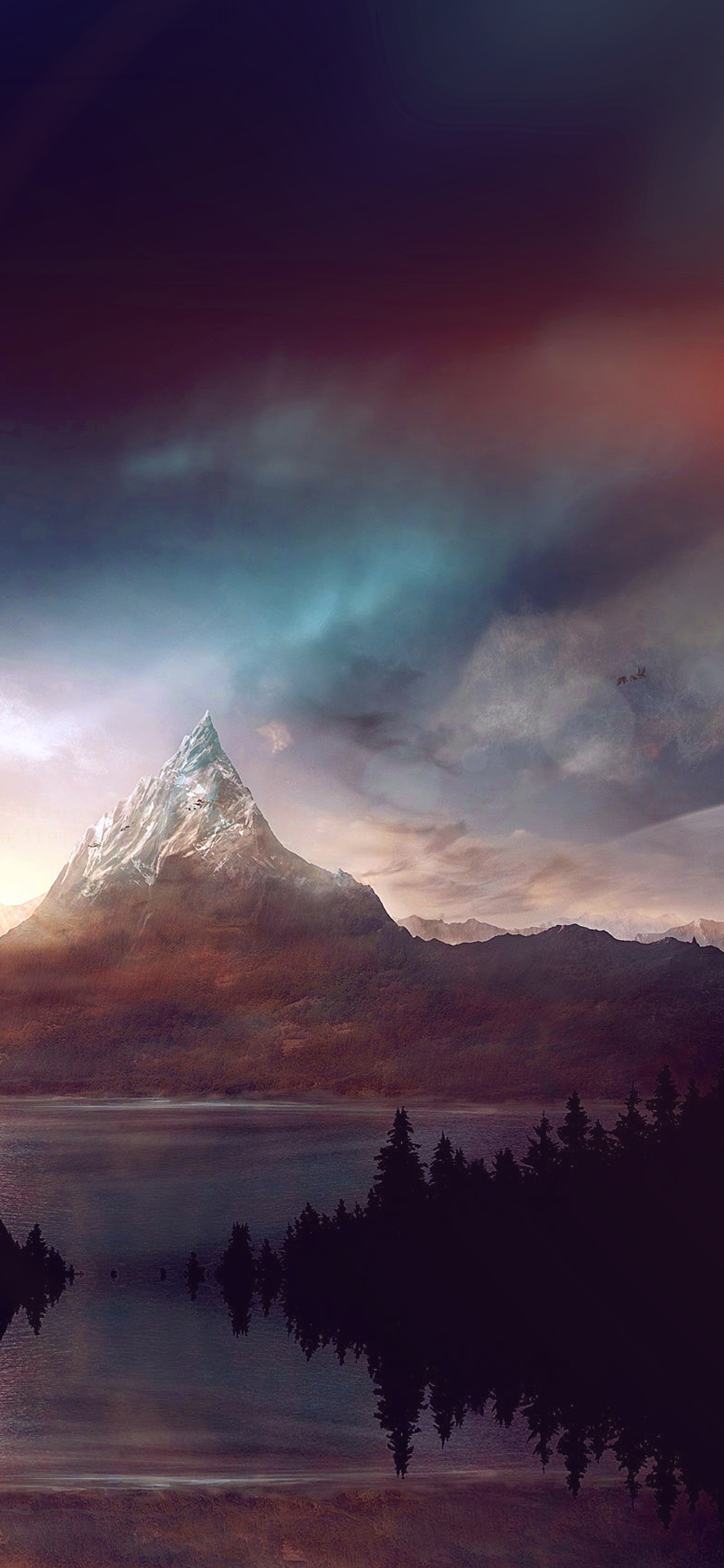 iPhoneXpapers.com-Apple-iPhone-wallpaper-ar92-mountain-nature-fantasy-art-illustration-flare