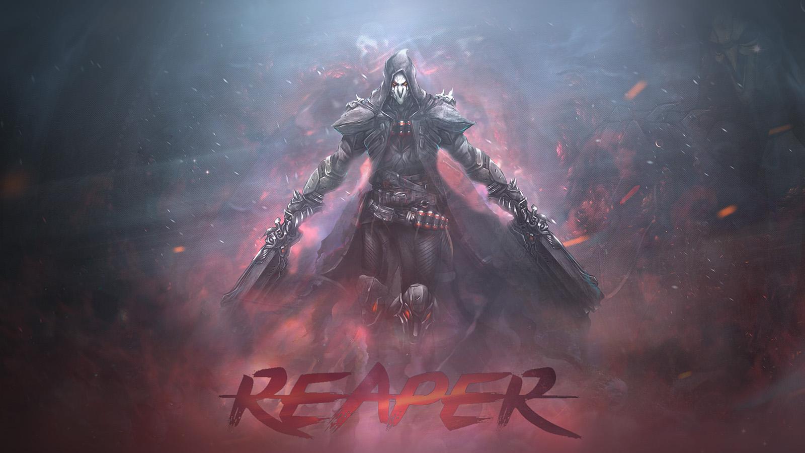 2048x2048 Widowmaker Overwatch Art Ipad Air Hd 4k: Ar99-overwatch-reaper-game-art-illustration-wallpaper
