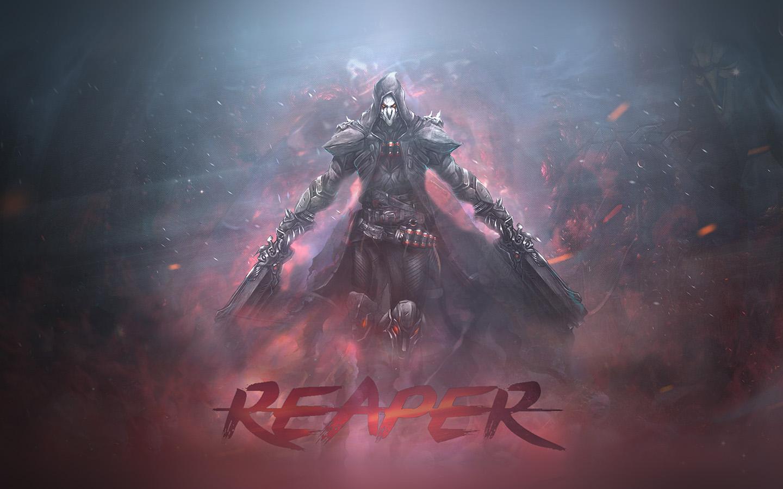 Ar99 Overwatch Reaper Game Art Illustration Wallpaper