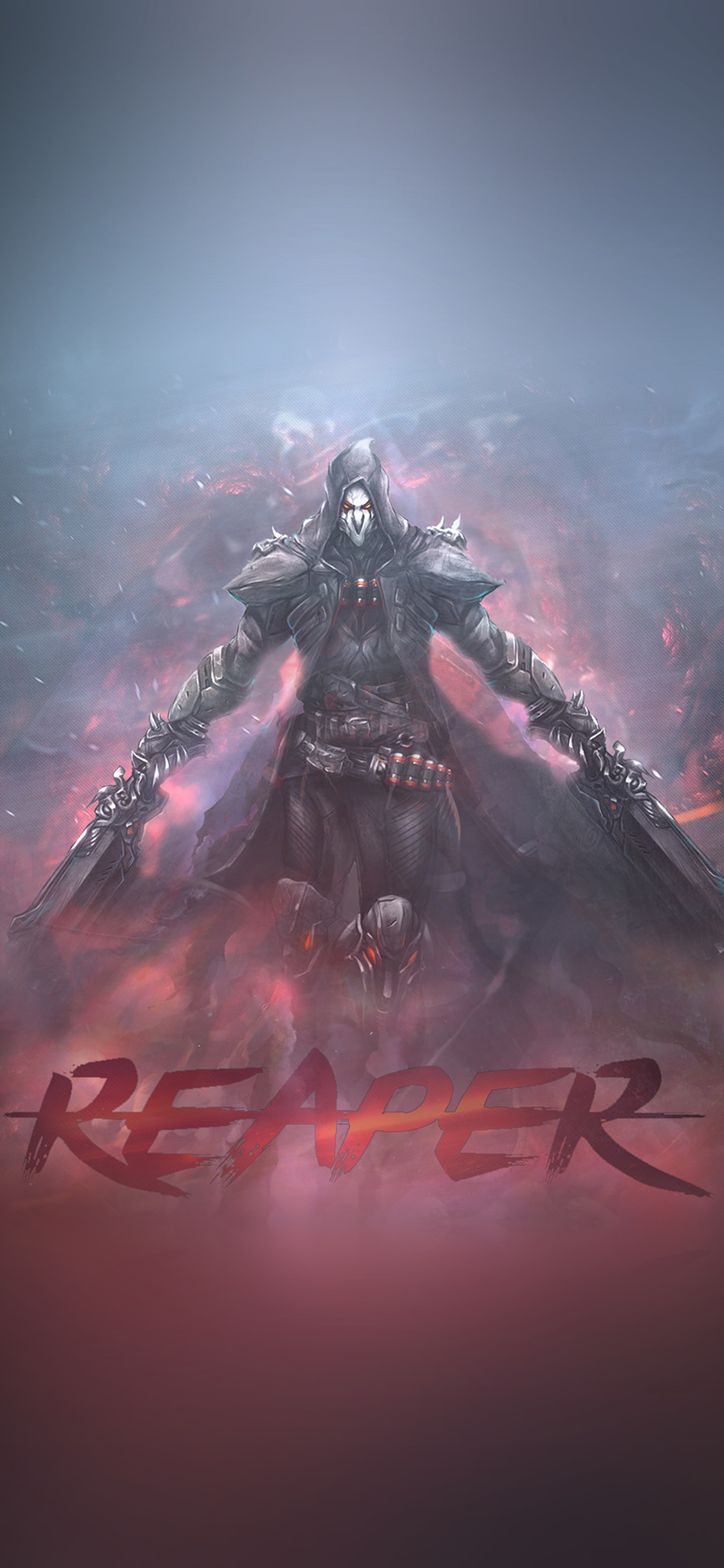 iPhoneXpapers.com-Apple-iPhone-wallpaper-ar99-overwatch-reaper-game-art-illustration
