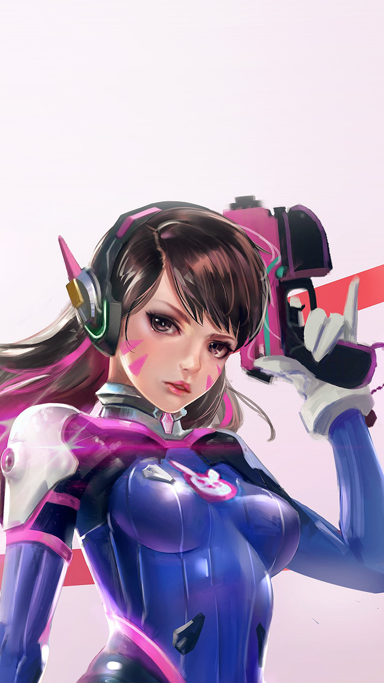Papers.co-iPhone5-iphone6-plus-wallpaper-as00-overwatch-diva-cute-game-art-illustration