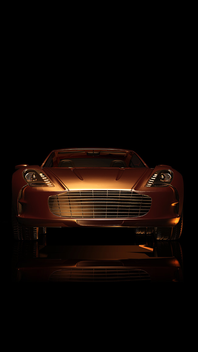 freeios8.com-iphone-4-5-6-plus-ipad-ios8-as03-dark-sportscar-gold-art-illustration