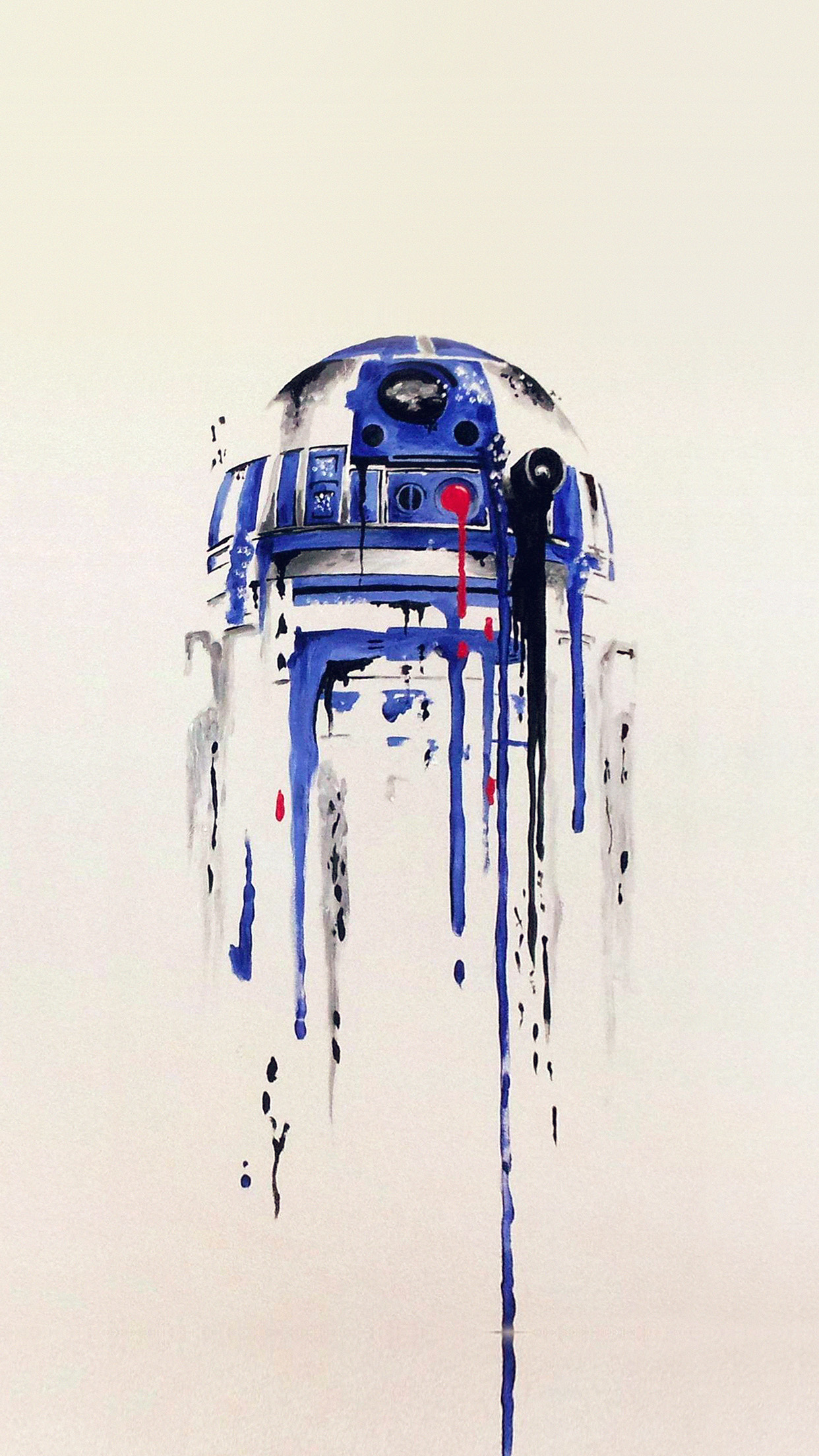 Iphone6papersco Iphone 6 Wallpaper As07 R2 D2 Minimal Painting