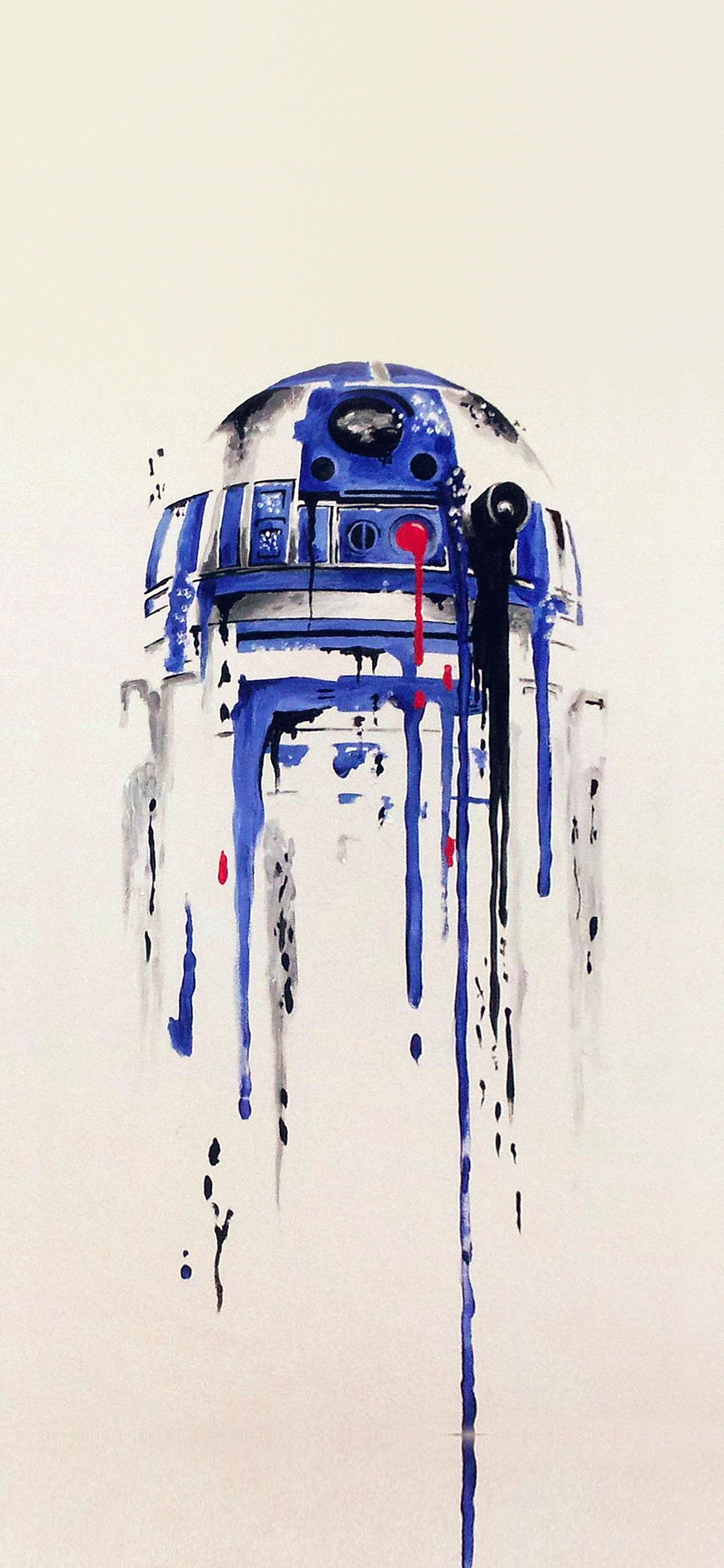 Iphonexpapers Com Iphone X Wallpaper As07 R2 D2 Minimal Painting
