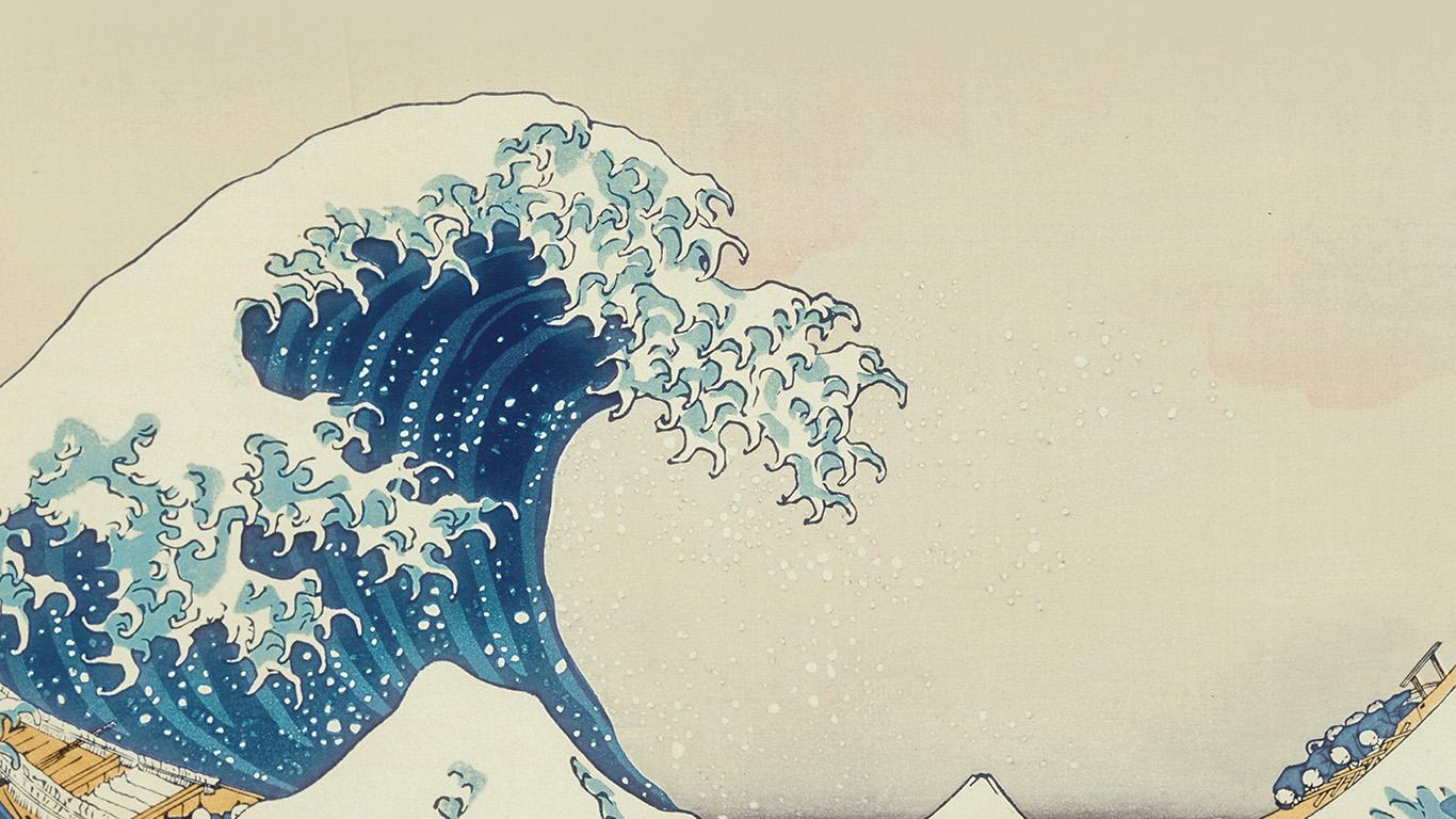 Wallpaper For Desktop Laptop As11 Wave Art Hokusai