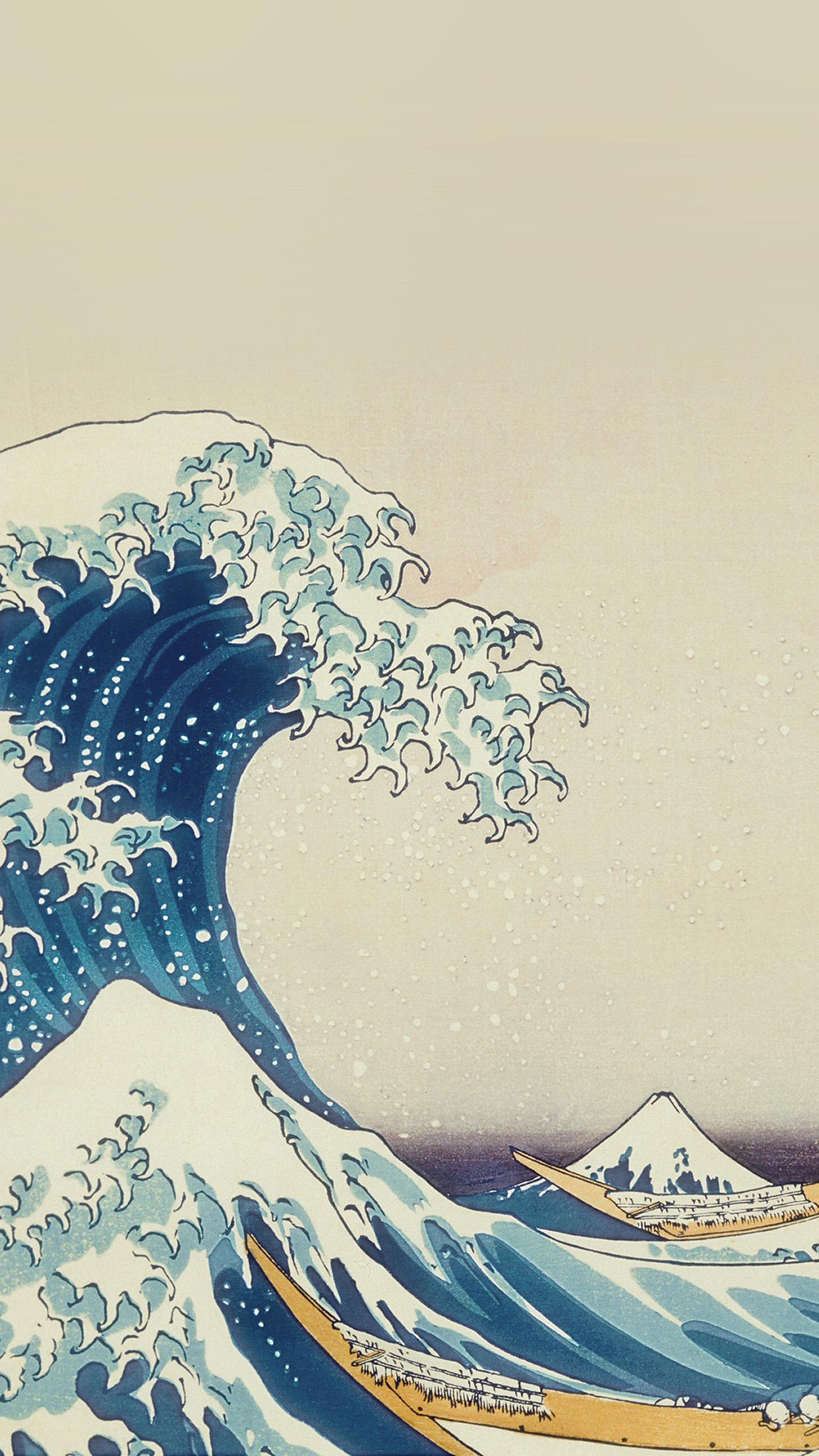 As11 Wave Art Hokusai Painting Classic Art Illustration Wallpaper