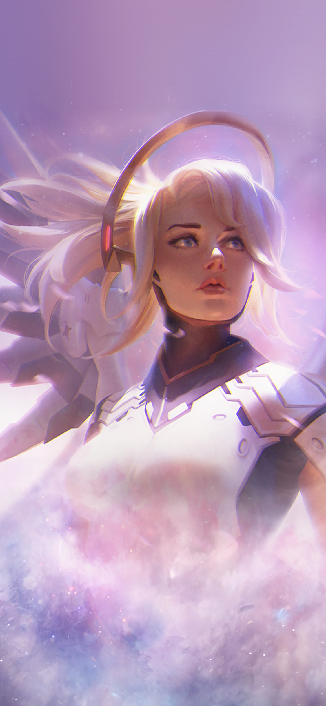 As12 Mercy Overwatch Game Art Illustration Wallpaper