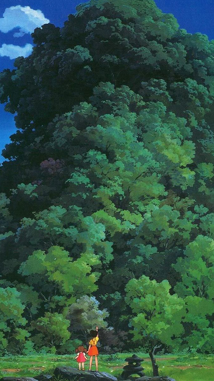 iPhone6papers.co-Apple-iPhone-6-iphone6-plus-wallpaper-as20-studio-ghibli-tree-green-art-illustration-love-anime