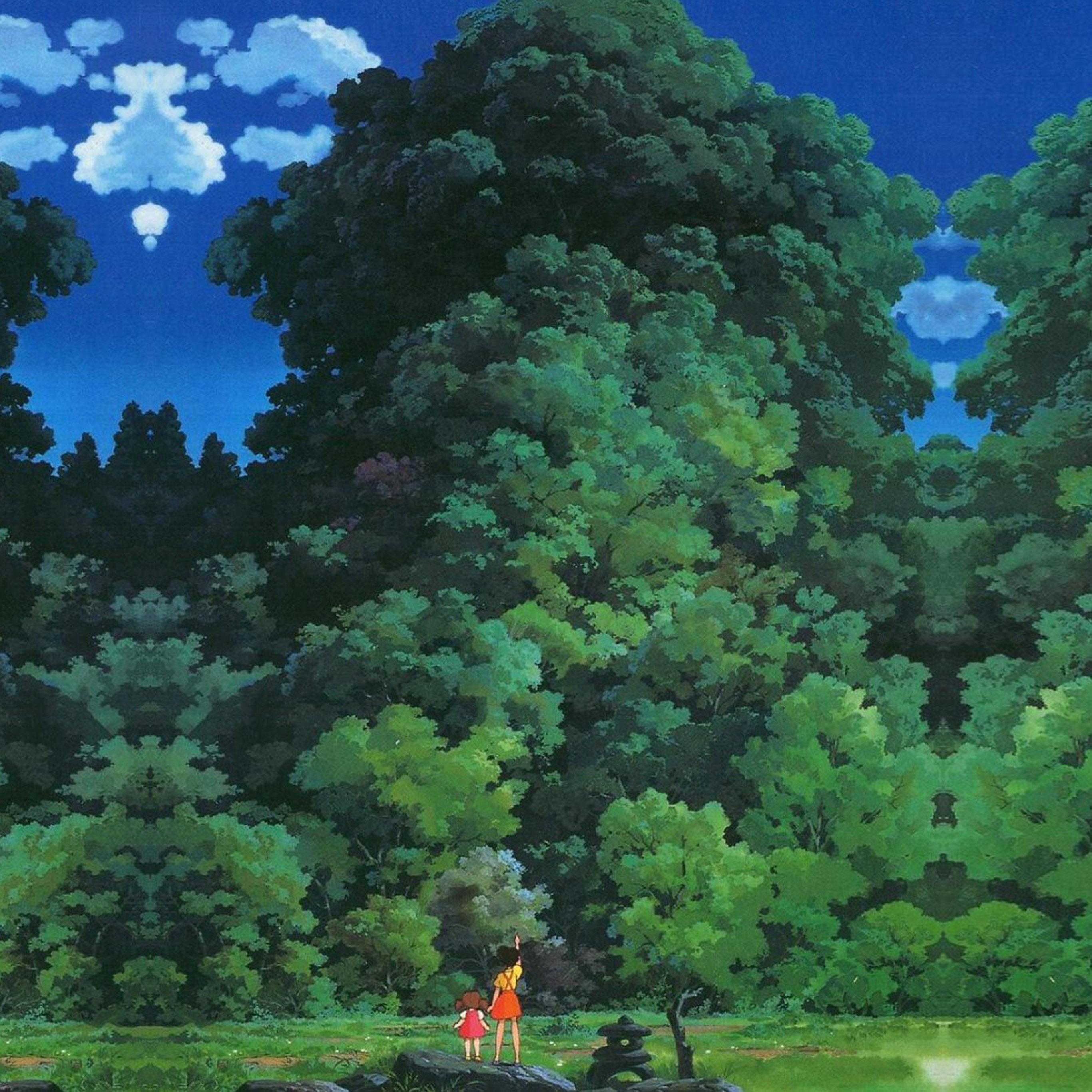As20 Studio Ghibli Tree Green Art Illustration Love Anime
