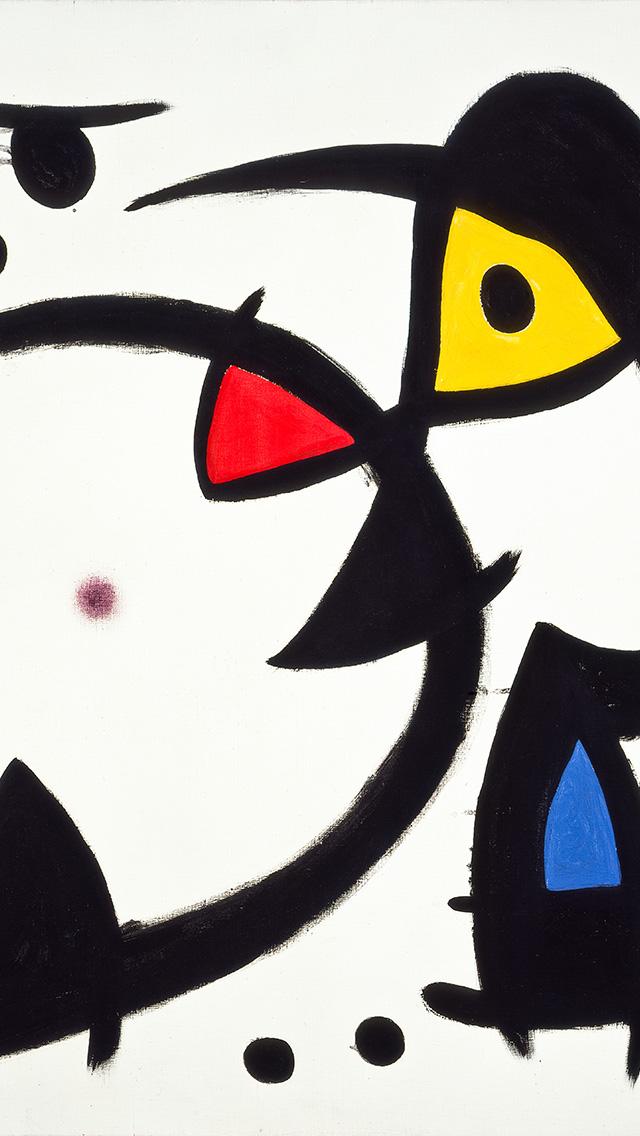 freeios8.com-iphone-4-5-6-plus-ipad-ios8-as28-fine-art-abstract-joan-miro-blue-classic-paint-art-illustration