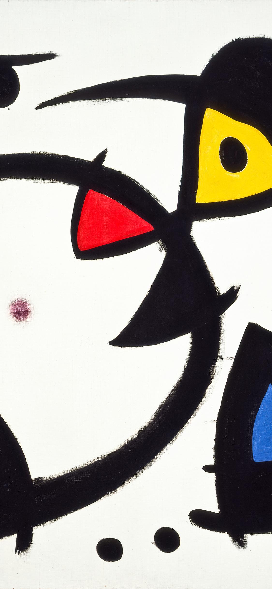iPhoneXpapers.com-Apple-iPhone-wallpaper-as28-fine-art-abstract-joan-miro-blue-classic-paint-art-illustration