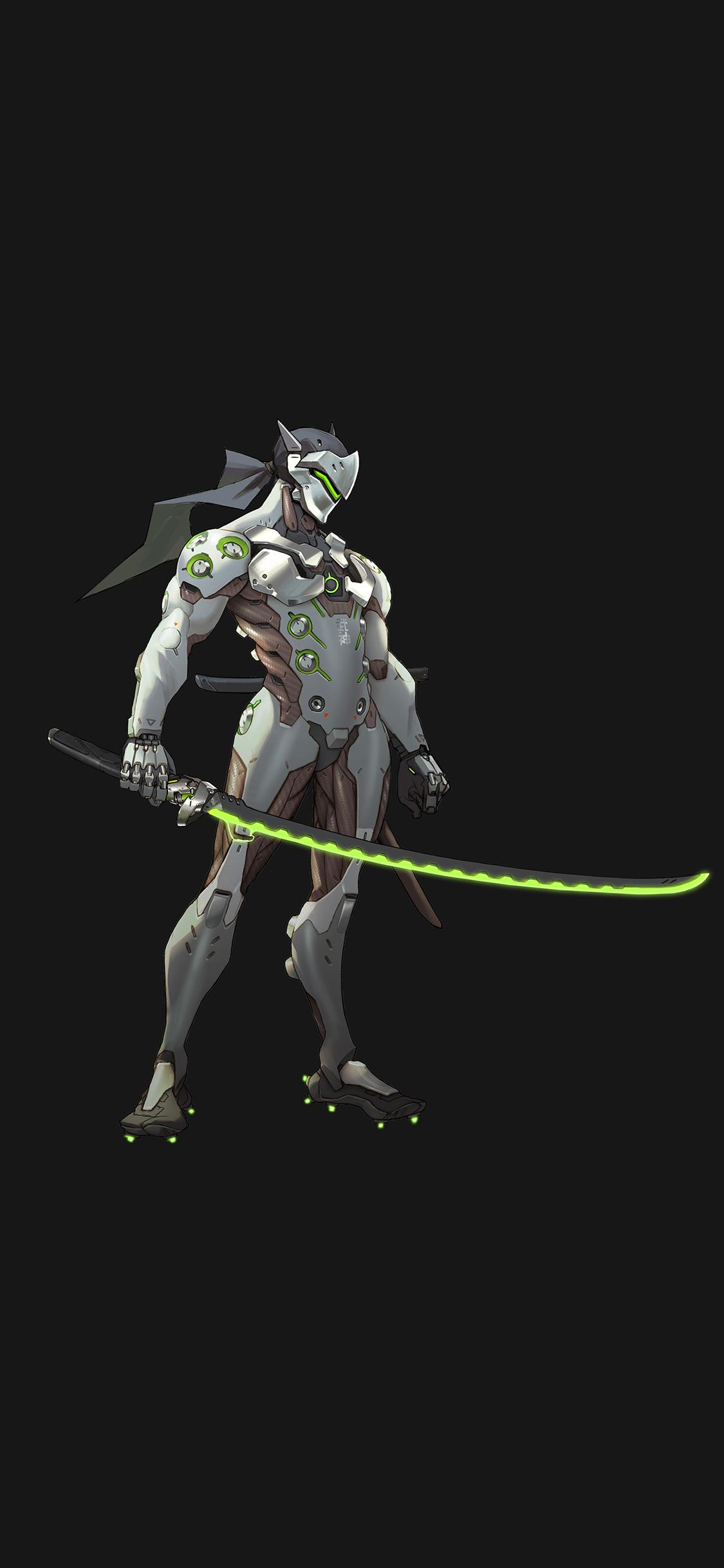 As31 Overwatch Genji Dark Art Illustration Game Wallpaper