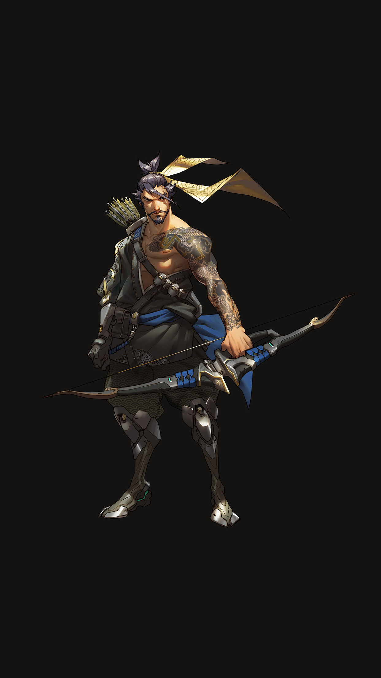 iphone7papers | iphone7 wallpaper | as32-overwatch-hanzo-dark