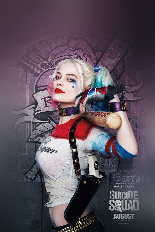 As34 Suicide Squad Poster Film Art Hall Harley Quinn Wallpaper
